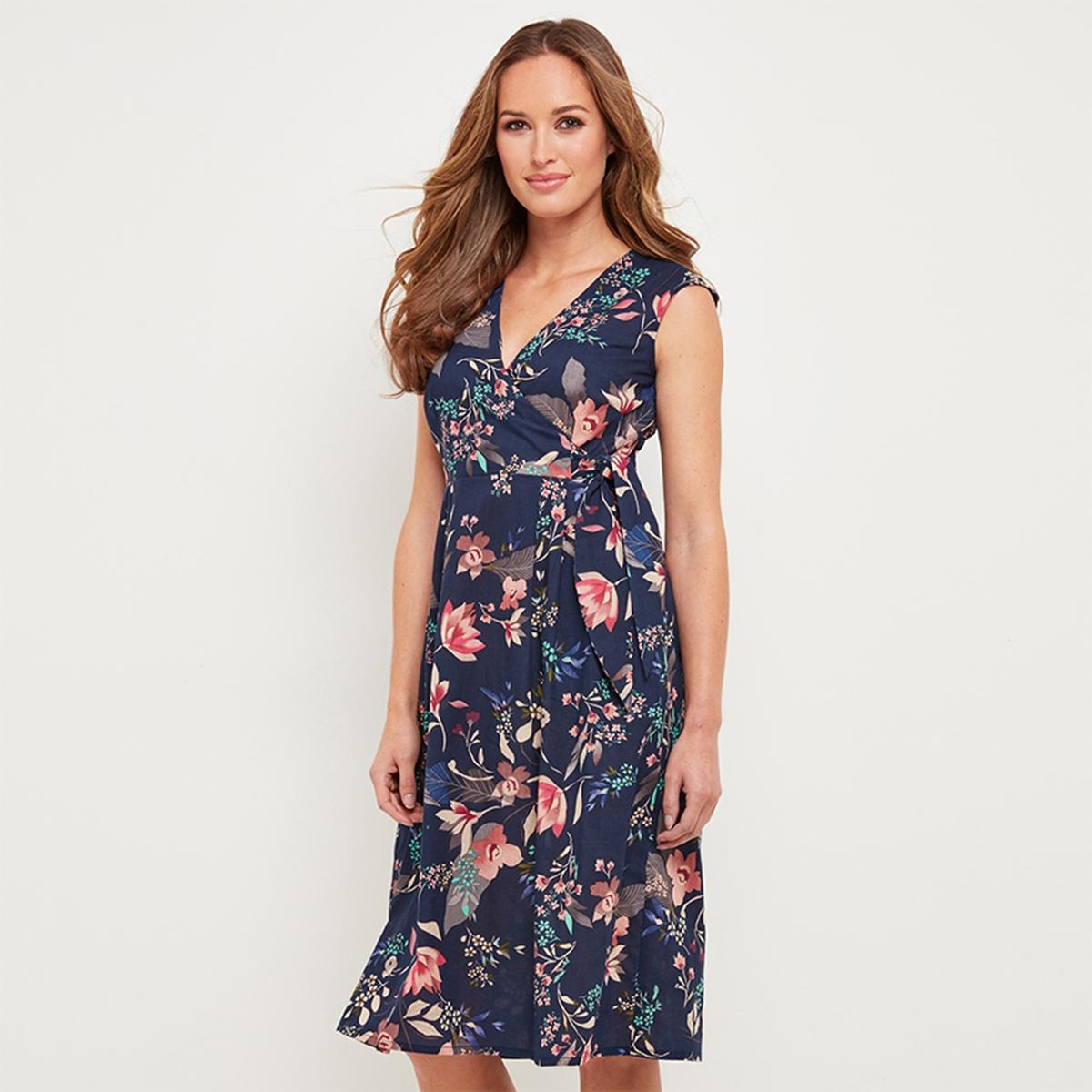 Платье расклешенное с цветочным рисунком от La Redoute