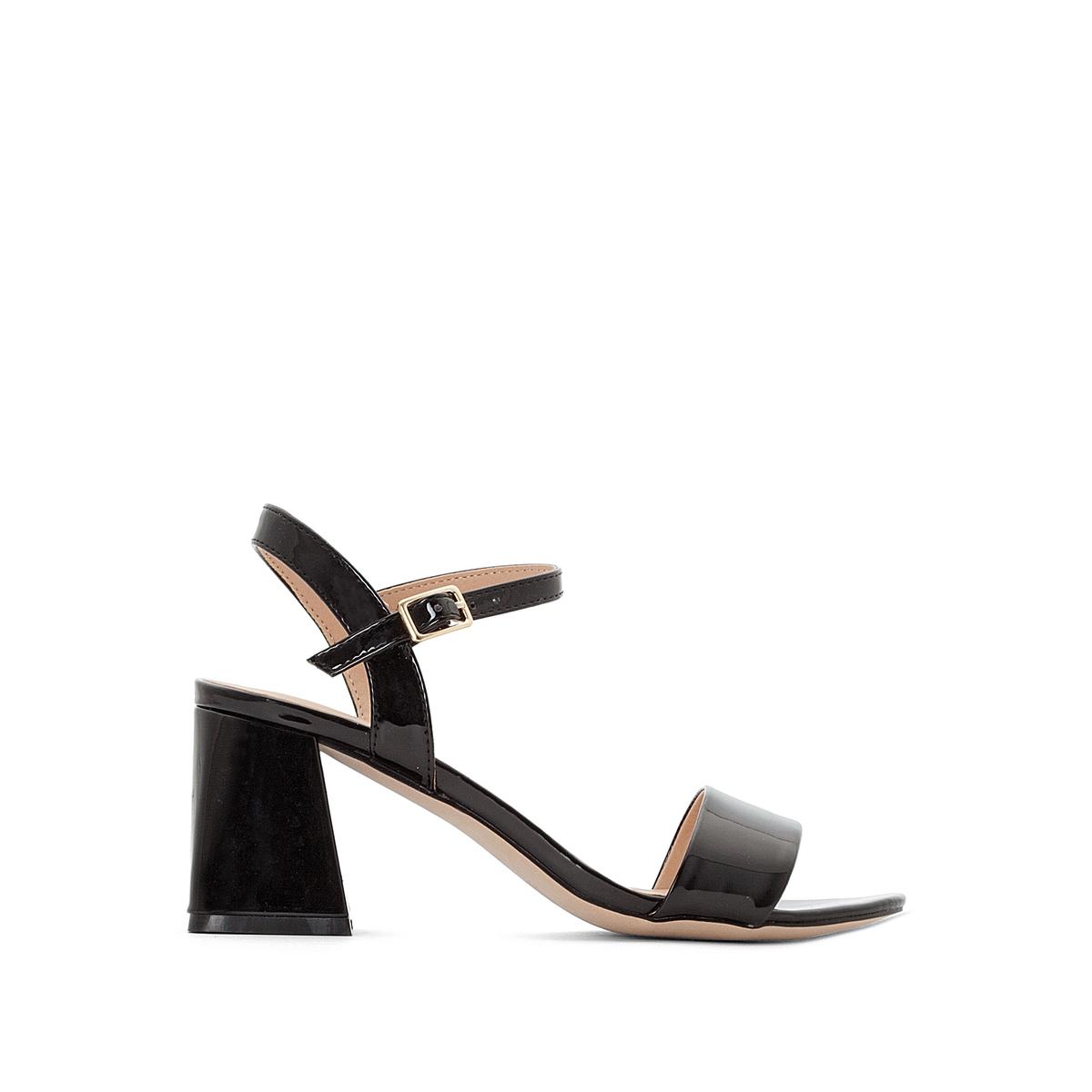 Босоножки кожаные лакированные на каблуке Gao цены онлайн