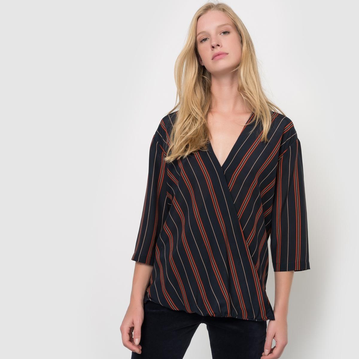 Блузка в полоску из шелка блузка в полоску marice