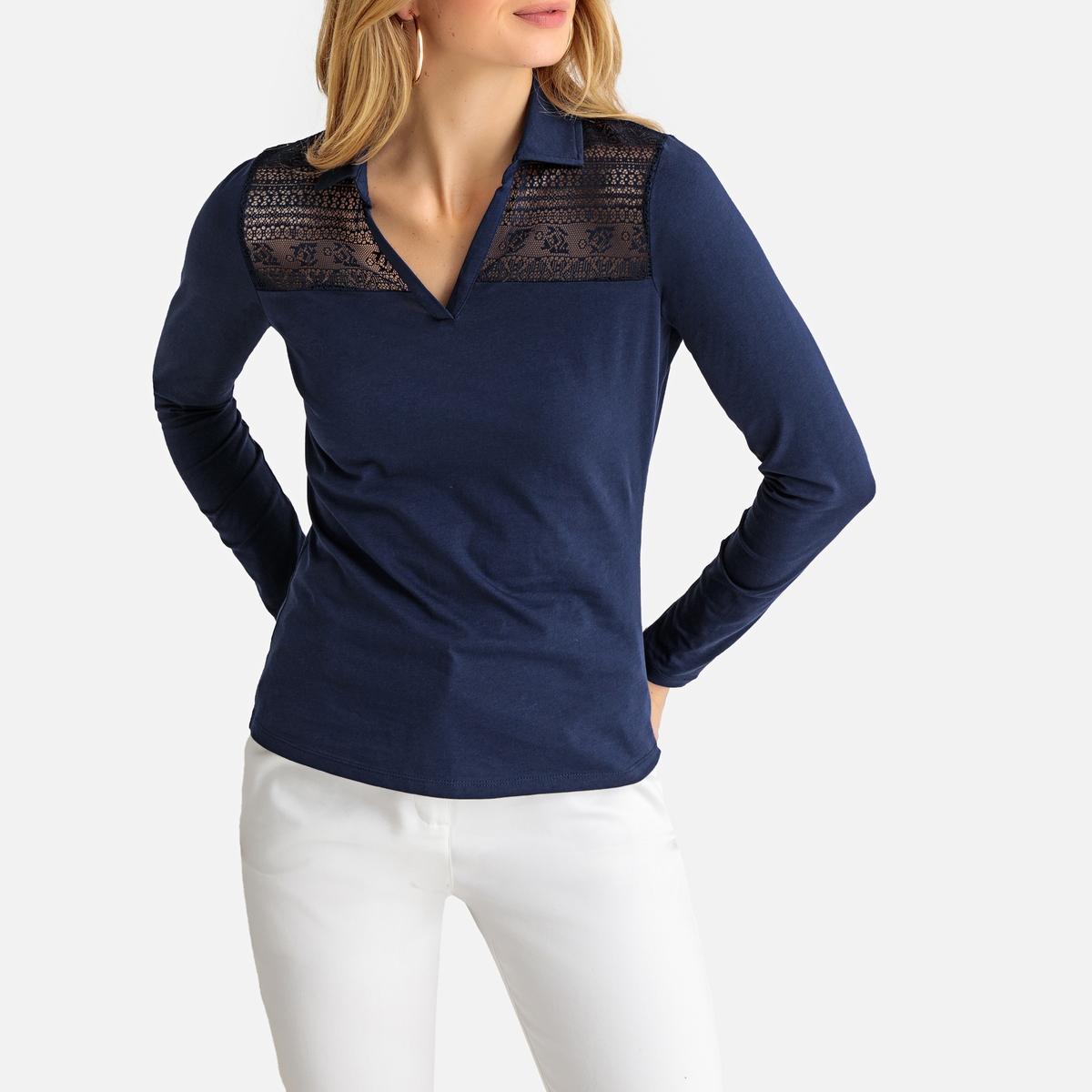 Imagen secundaria de producto de Camiseta de guipur con cuello polo - Anne weyburn