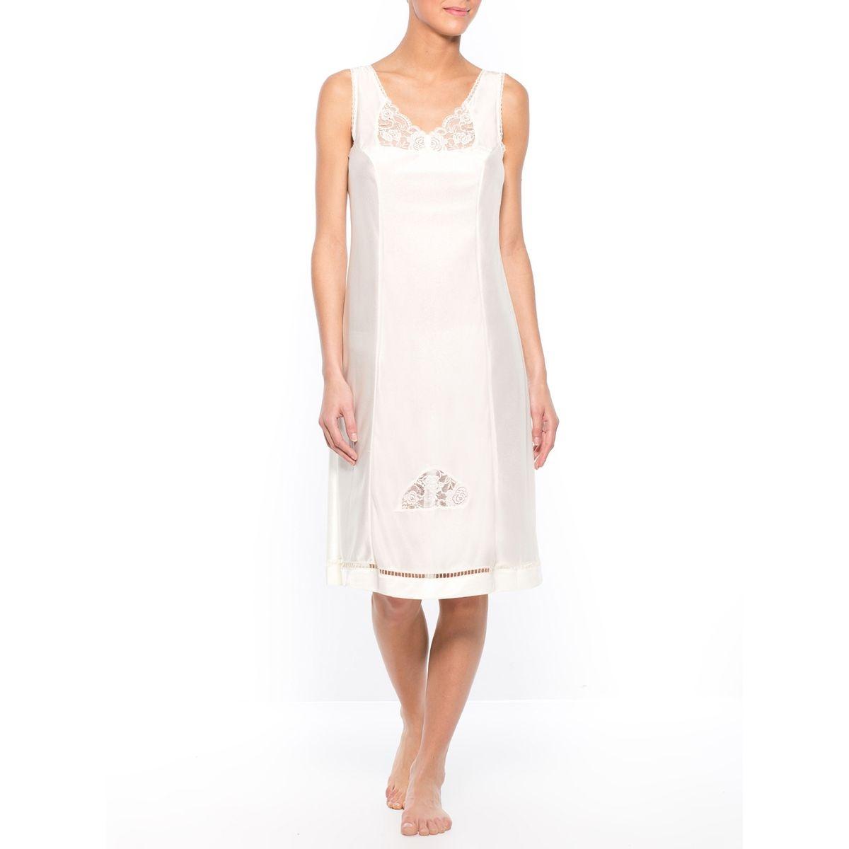 Fond de robe maille satinée, longueur 105cm