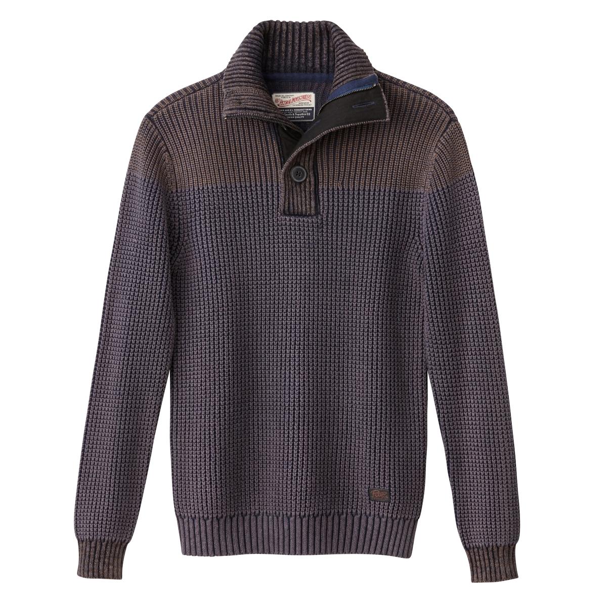Пуловер крупной вязкиОписание:Детали  •  Длинные рукава  •  Воротник-стойка •  Плотный трикотаж Состав и уход  •  100% хлопок  •  Следуйте советам по уходу, указанным на этикетке<br><br>Цвет: каштановый какао<br>Размер: M.XL