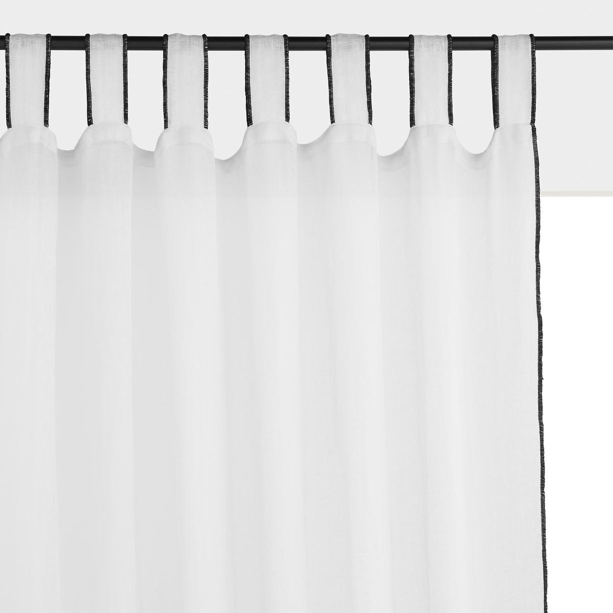 Занавеска La Redoute лен Tazina 140 x 350 см белый цена 2017