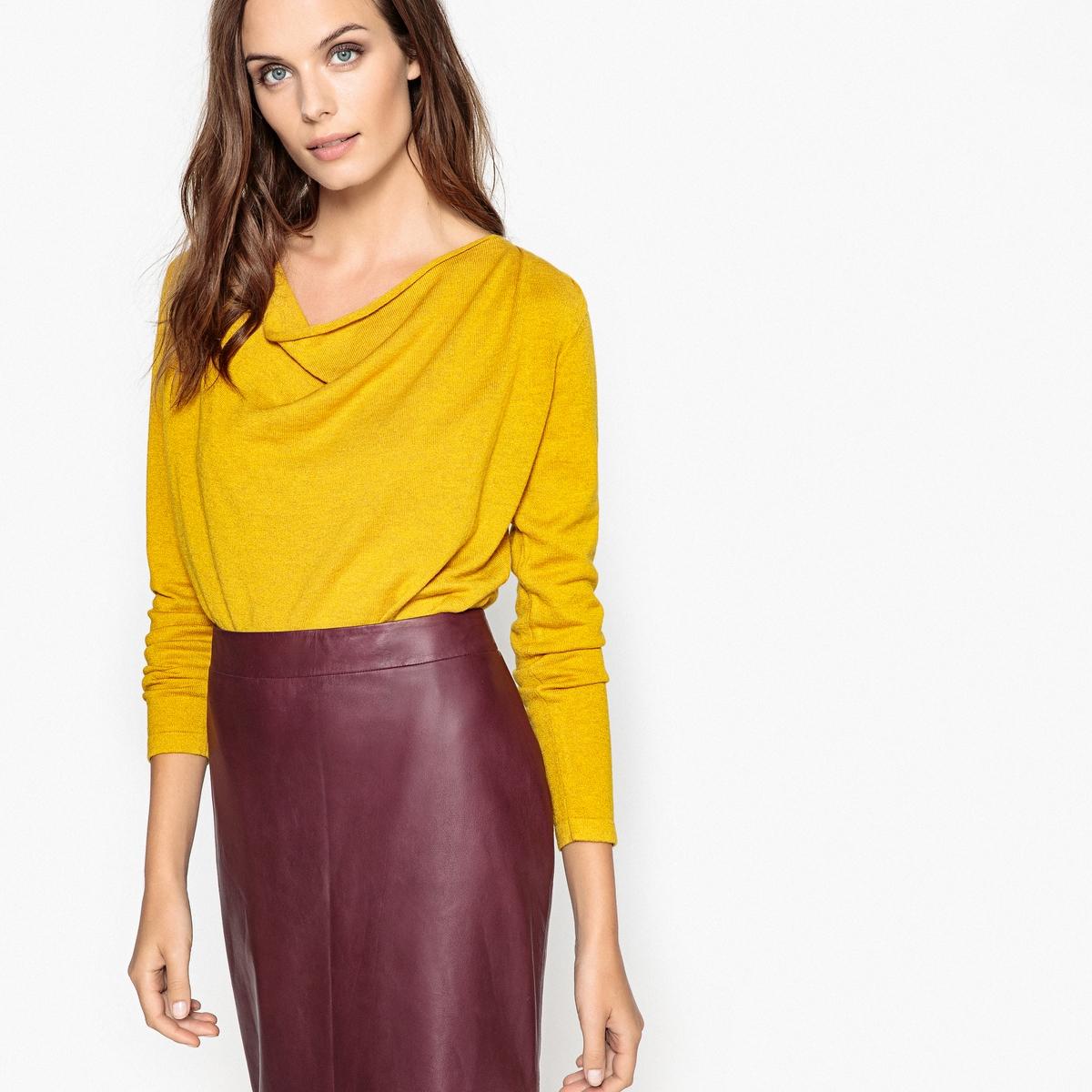 Пуловер шерстяной с воротником-качелями