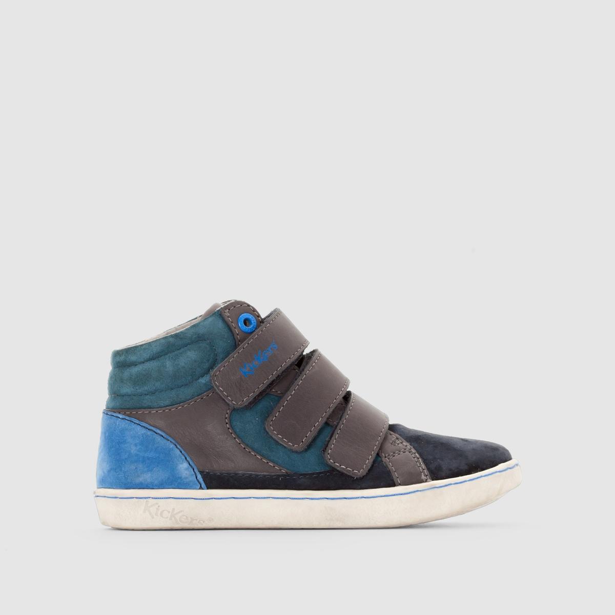 Кеды кожаные LynuxДетали •  Кеды высокие •  Спортивный стиль •  Плоский каблук •  Застежка : планка-велкроСостав и уход •  Верх 100% кожа •  Подкладка 100% спилок •  Стелька 100% спилок •  Подошва 100% синтетический материал<br><br>Цвет: темно-синий/ синий