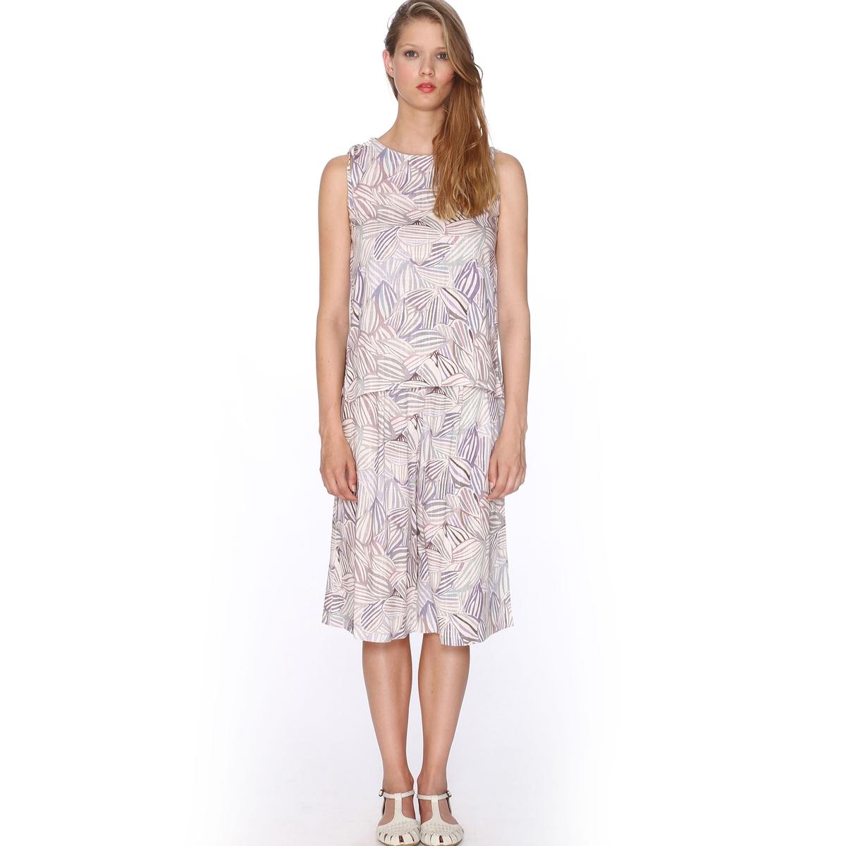 Бермуды с рисунком - PEPALOVES, Trouser MurielБермуды, модель Trouser Muriel от PEPALOVES. Объемный покрой. Сплошной цветочный рисунок. 2 боковых кармана. Состав и описание:Материал: 55% льна, 45% хлопка.Марка: PEPALOVE<br><br>Цвет: оранжевый/рисунок,принт/бежевый
