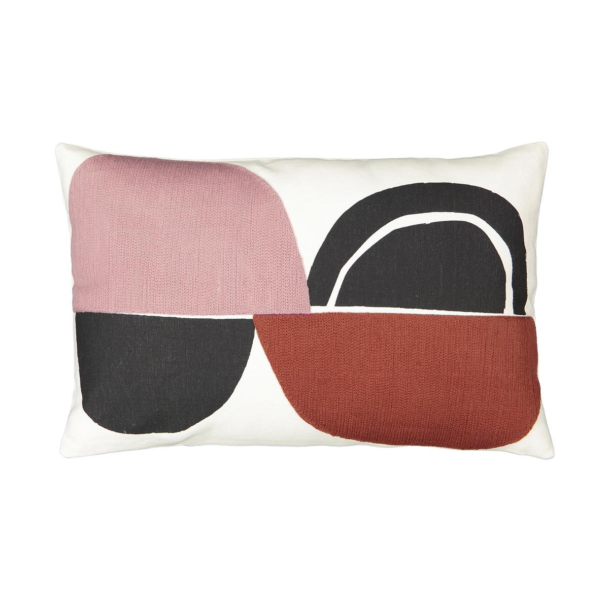 Чехол La Redoute Для подушки Comoe 50 x 30 см разноцветный льняной la redoute чехол для подушки georgette 50 x 30 см желтый