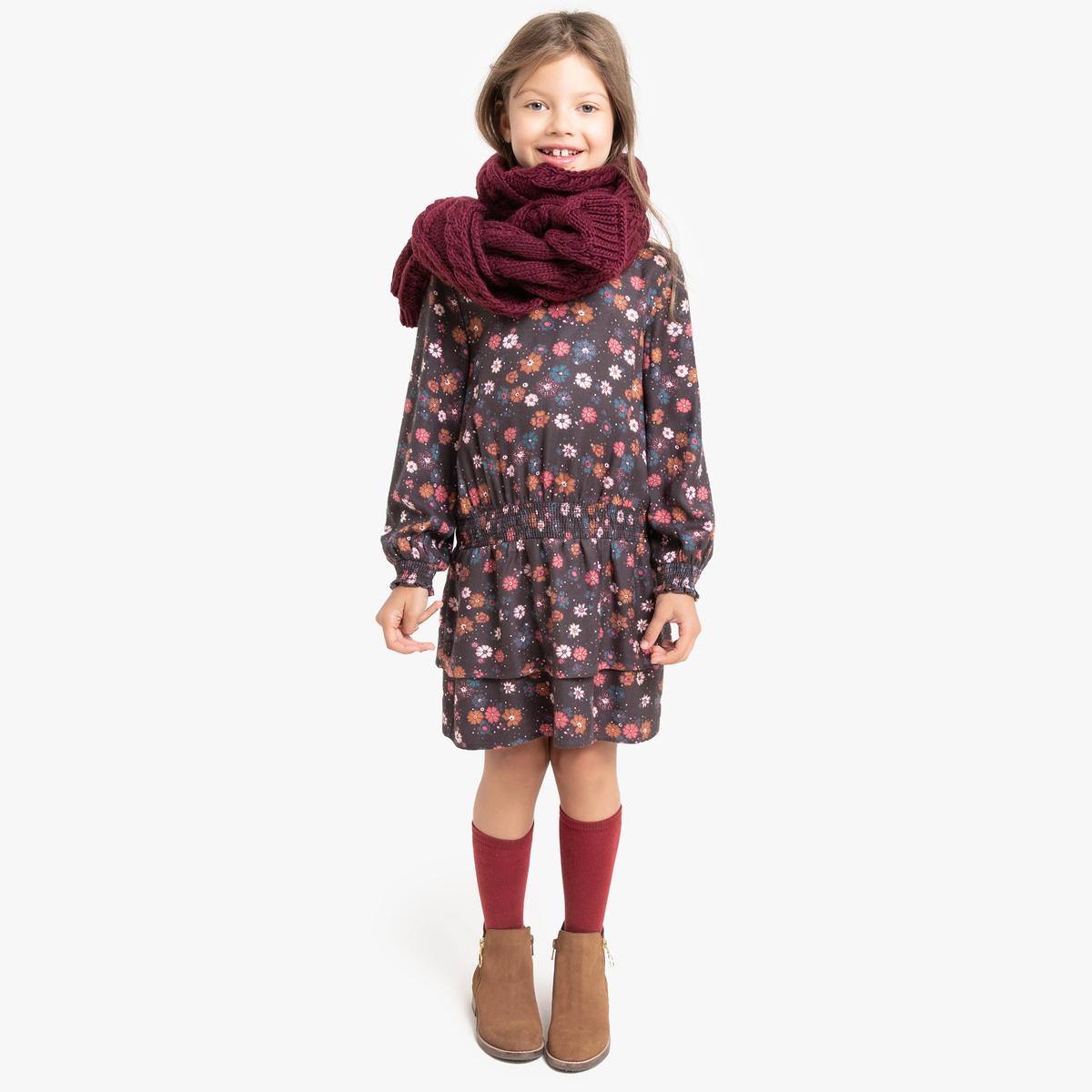 Платье La Redoute Струящееся со сборками и цветочным принтом 12 лет -150 см другие пижама la redoute с шортами и цветочным принтом 12 лет 150 см другие