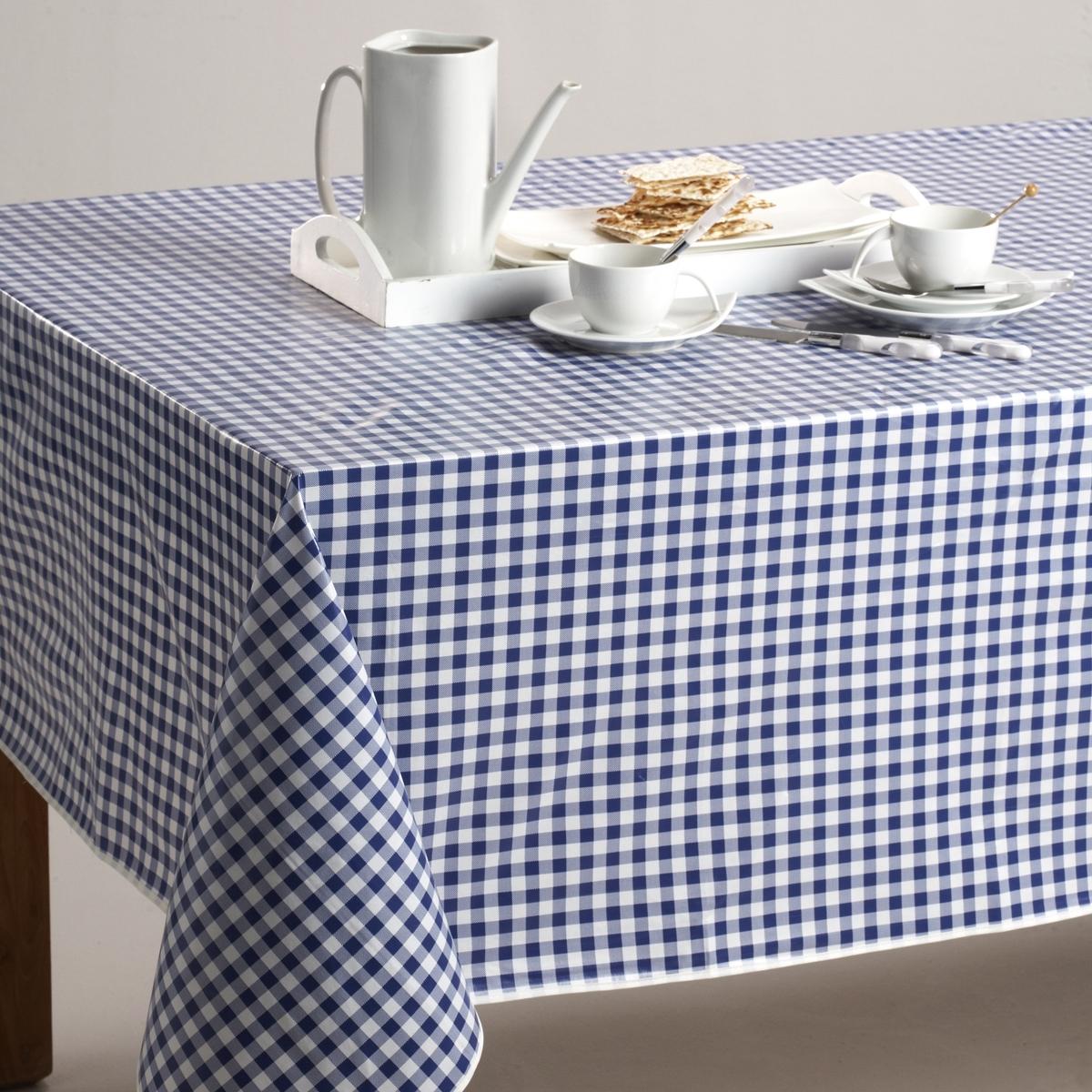 Скатерть в клетку виши, 100% хлопок с окрашенными волокнами, GARDEN PARTYТекстиль для столовой, 100% хлопок с окрашенными волокнами : гарантия качества и долговечности.<br><br>Цвет: красный/ белый,серо-коричневый,серый/ белый,синий/ белый<br>Размер: 150 cm