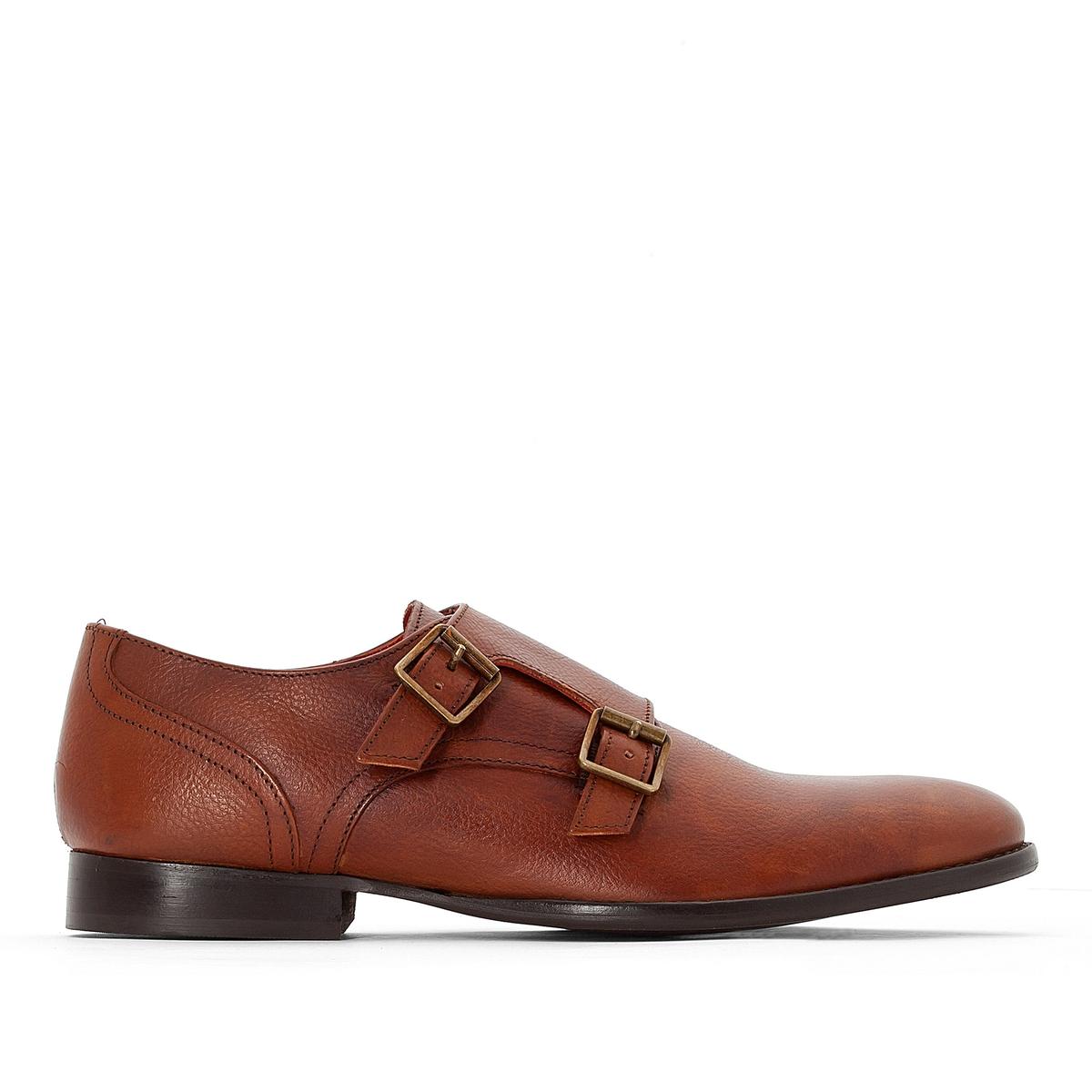 Ботинки-дерби кожаные ConranВерх : кожа               Подкладка : кожа, текстиль               Стелька : кожа               Подошва : каучук               Высота каблука : 2,3 см               Застежка : пряжка<br><br>Цвет: темно-коричневый