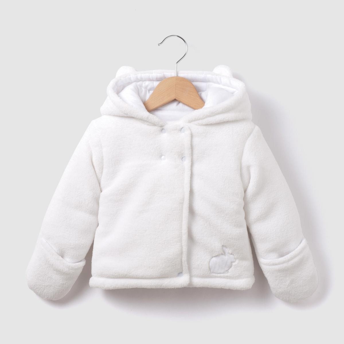 Пальто La Redoute С капюшоном зимняя модель мес - года 1 мес. - 54 см белый комбинезон la redoute с капюшоном утепленный мес 1 мес 54 см синий
