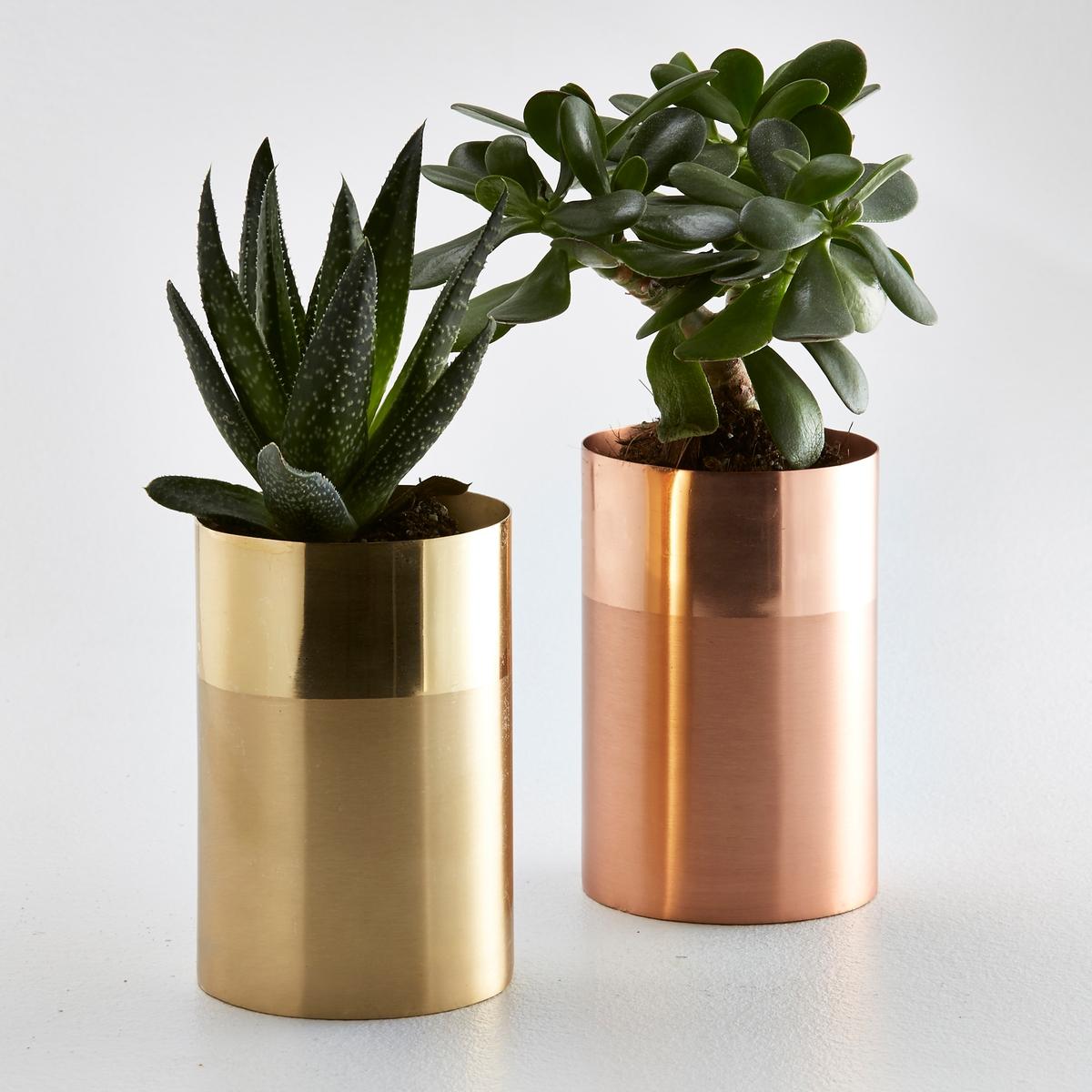 Ваза металлическая двухцветная, Ikalo ваза двухцветная adria