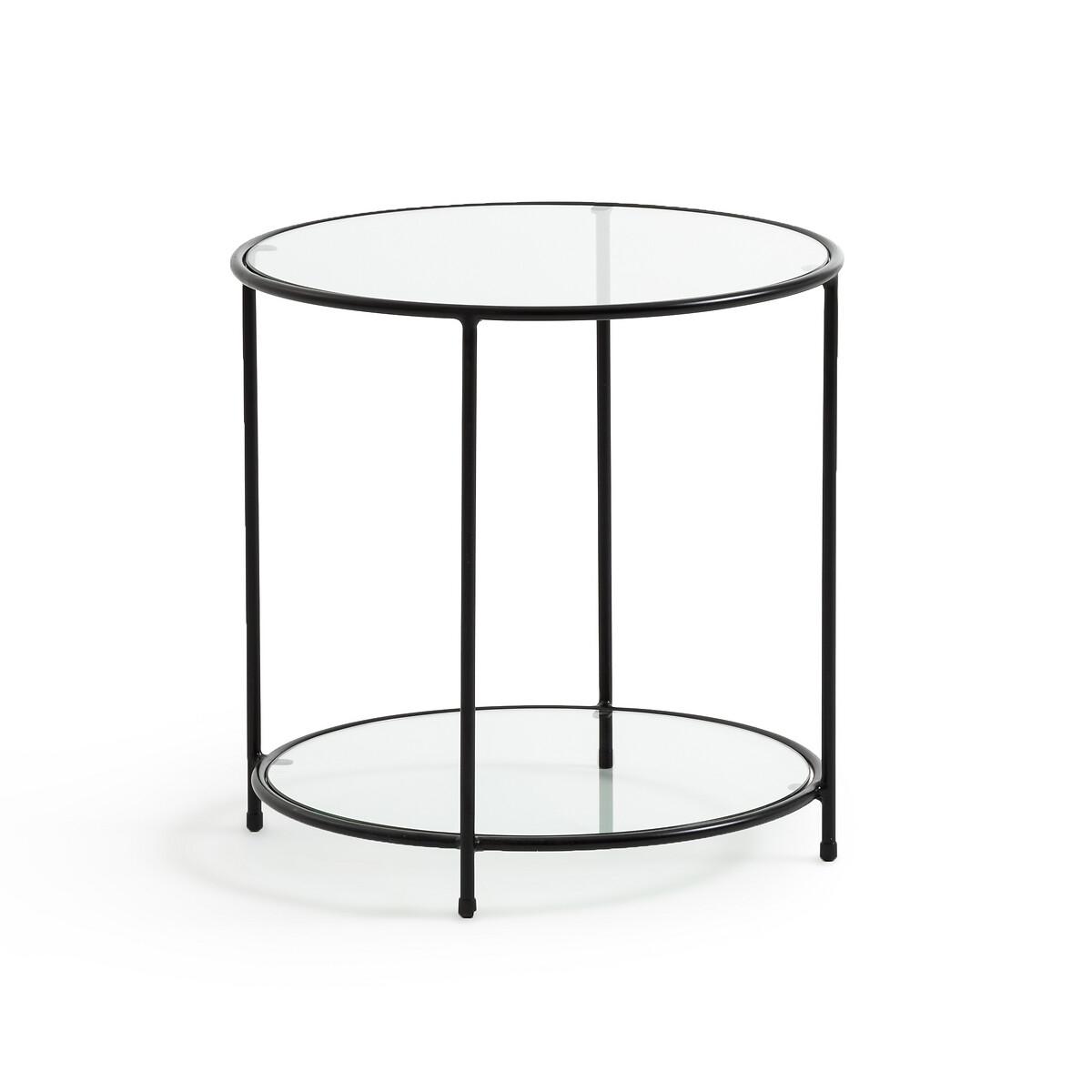 Диванный LaRedoute Столик из закаленного стекла Sybil единый размер черный