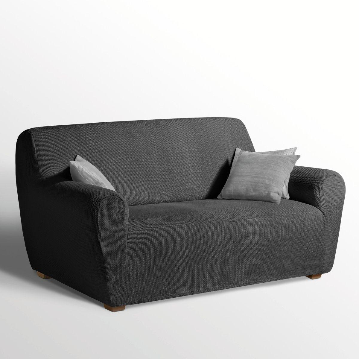 Чехол La Redoute, Черный, Эластичный для кресла и дивана AHMIS 3 местн. черный