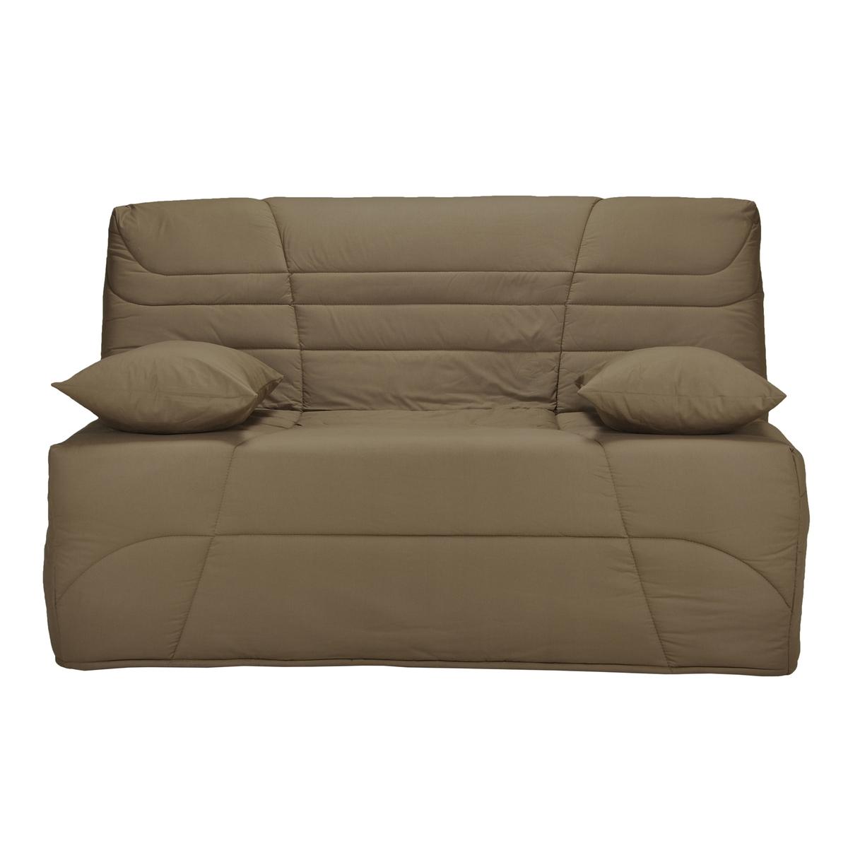 Чехол LaRedoute Стеганый для дивана-книжки толщина 9 см 90 x 190 см каштановый