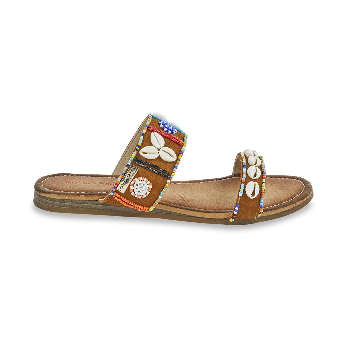 Туфли без задника, из кожи, Galet цены онлайн
