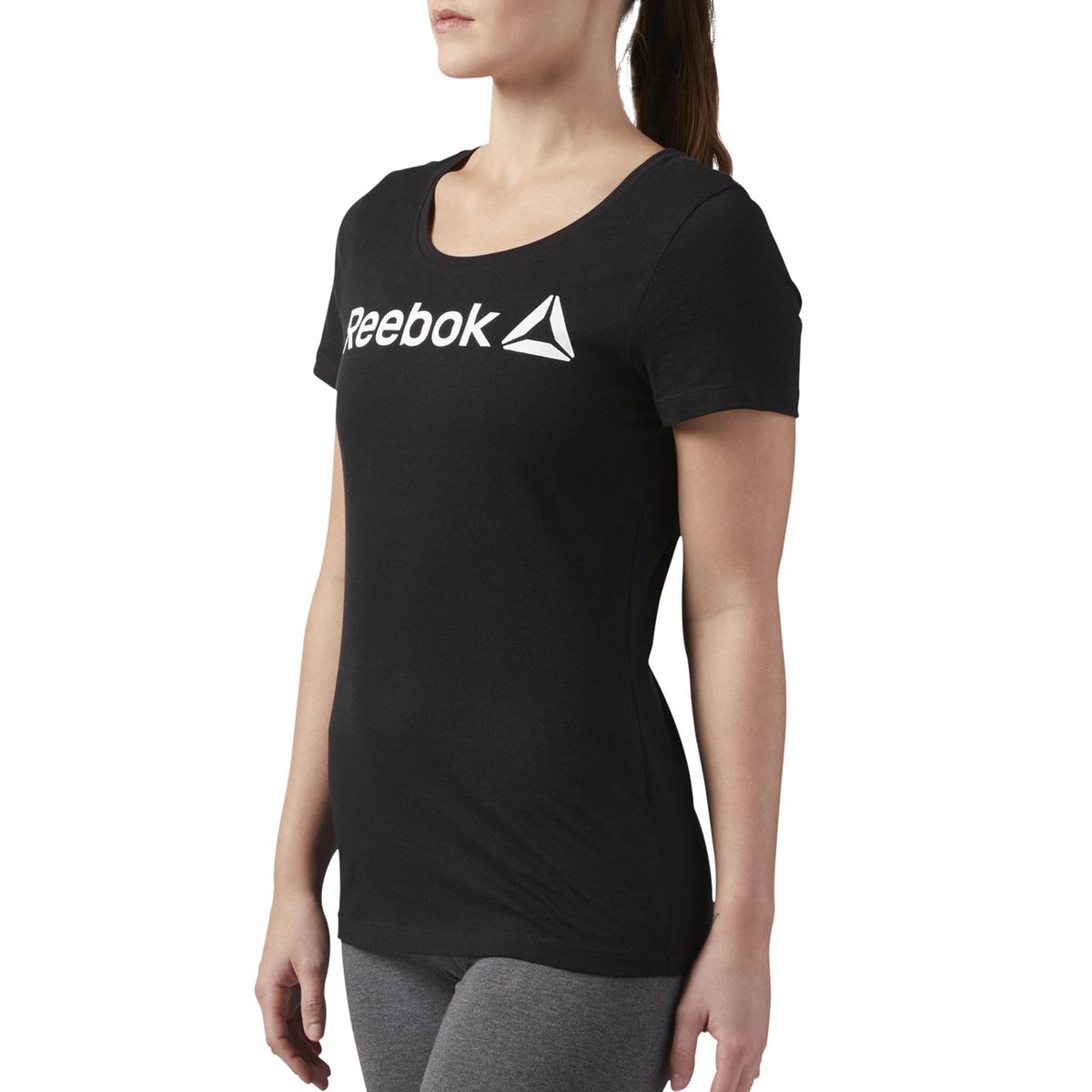 Imagen secundaria de producto de Camiseta con cuello redondo de manga corta y estampado delante - Reebok