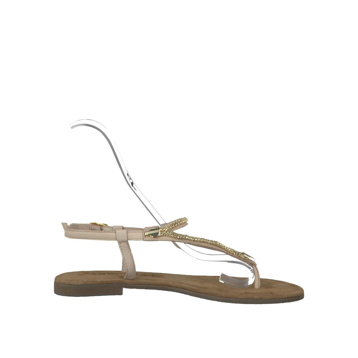 Босоножки кожаные 28111-28Верх/Голенище : кожа  Подкладка : кожа  Стелька : кожа  Подошва : синтетика  Высота каблука : 0,5 см  Форма каблука : плоский каблук  Мысок : закругленный мысок  Застежка : пряжка<br><br>Цвет: бежевый,черный