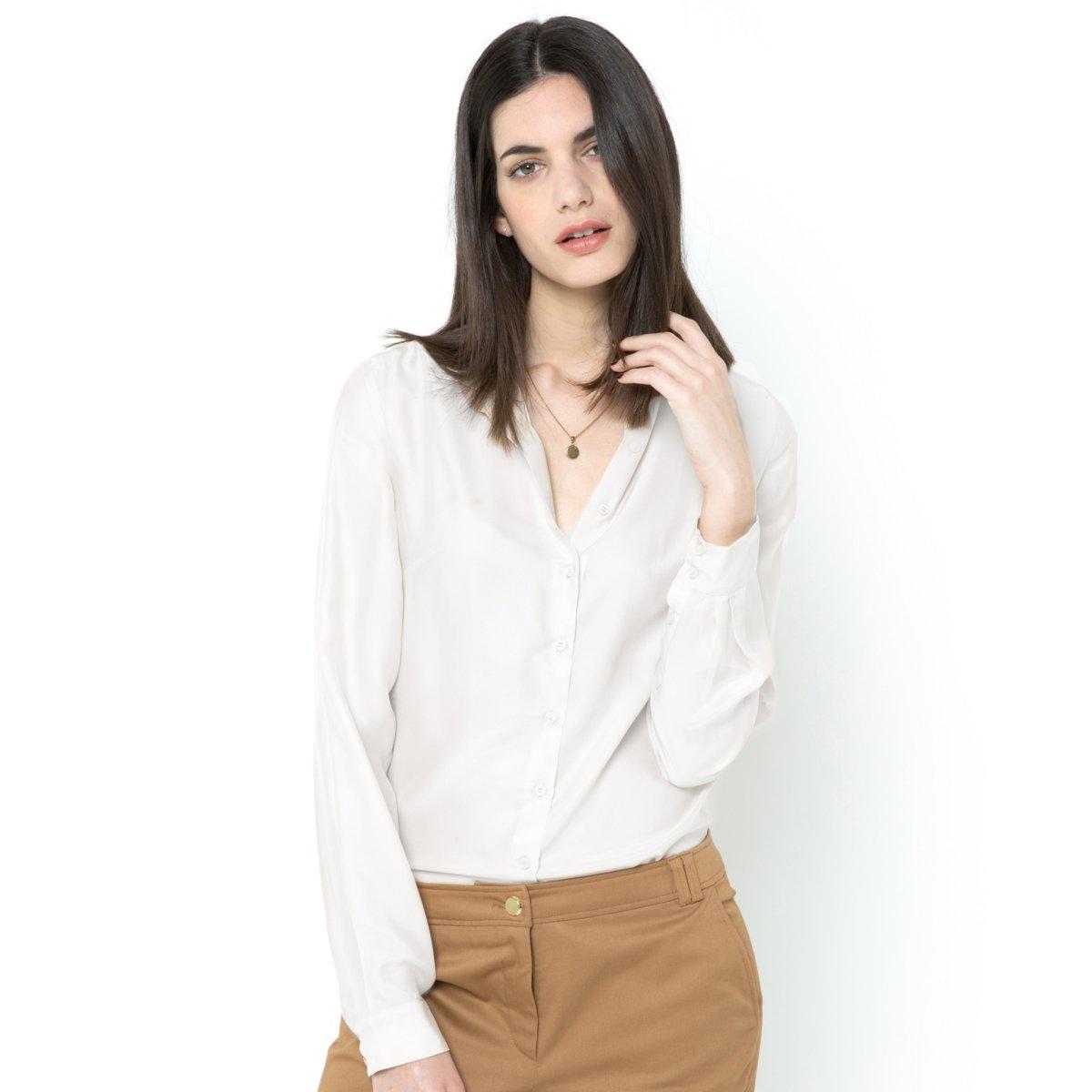 LAURA CLEMENT Рубашка, 100% шелка