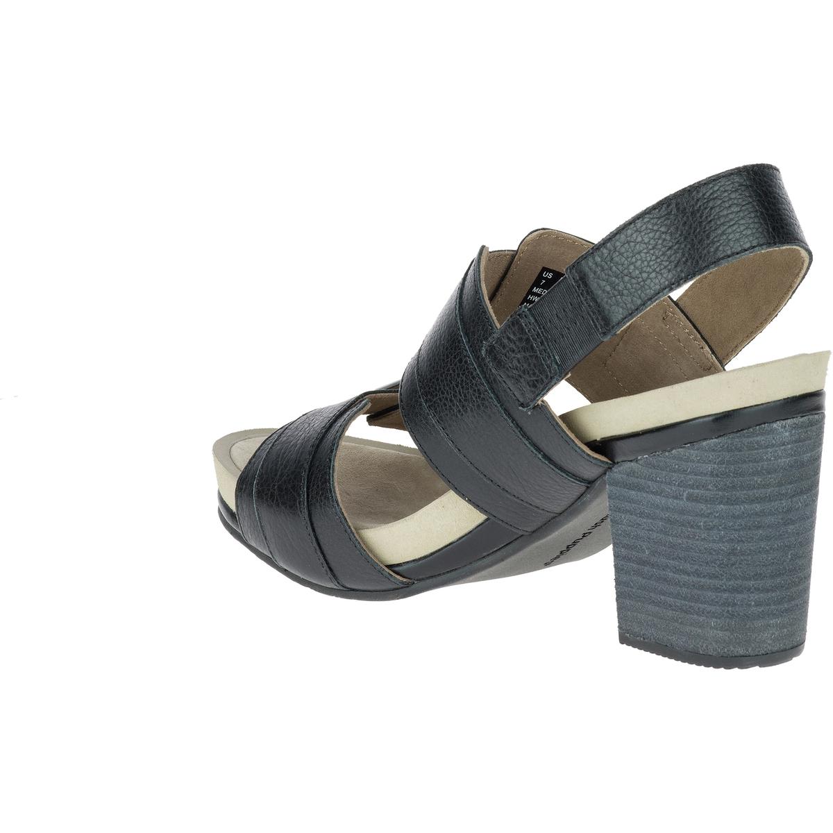 Босоножки кожаные LeonieВерх/Голенище : кожа  Подкладка : кожа  Стелька : кожа  Подошва : каучук  Высота каблука : 7 см  Форма каблука : широкий каблук  Мысок : закругленный мысок Застежка : пряжка<br><br>Цвет: черный<br>Размер: 37.38