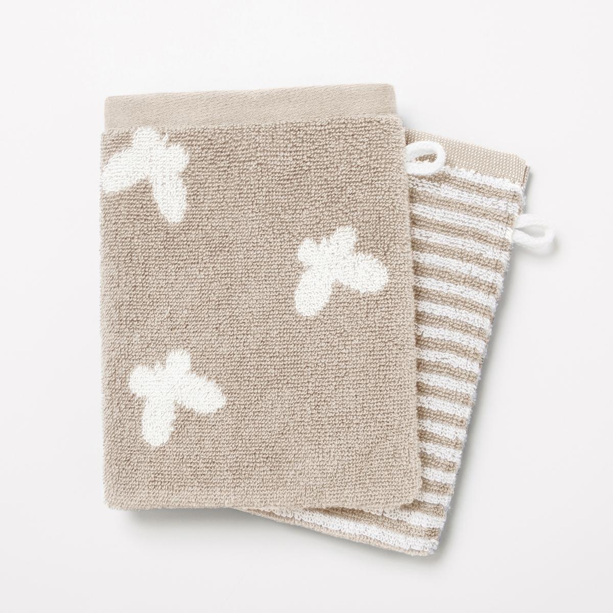 Комплект из 2 банных рукавичек из махровой ткани, 500 г/м² - CANELO (lot de 2) от La Redoute
