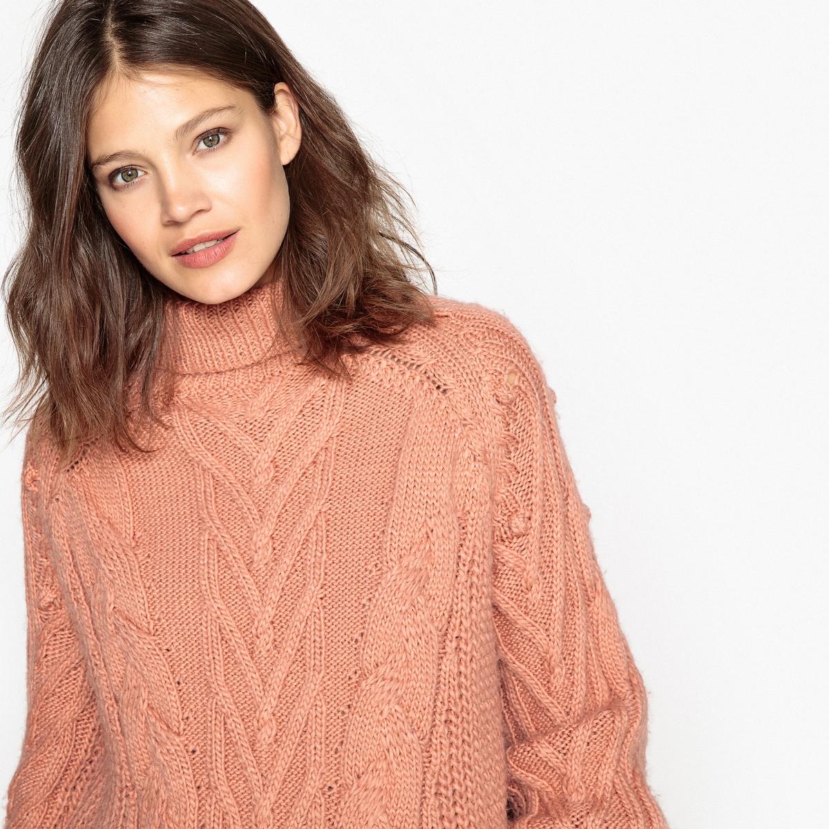 Пуловер-водолазка шерстяной