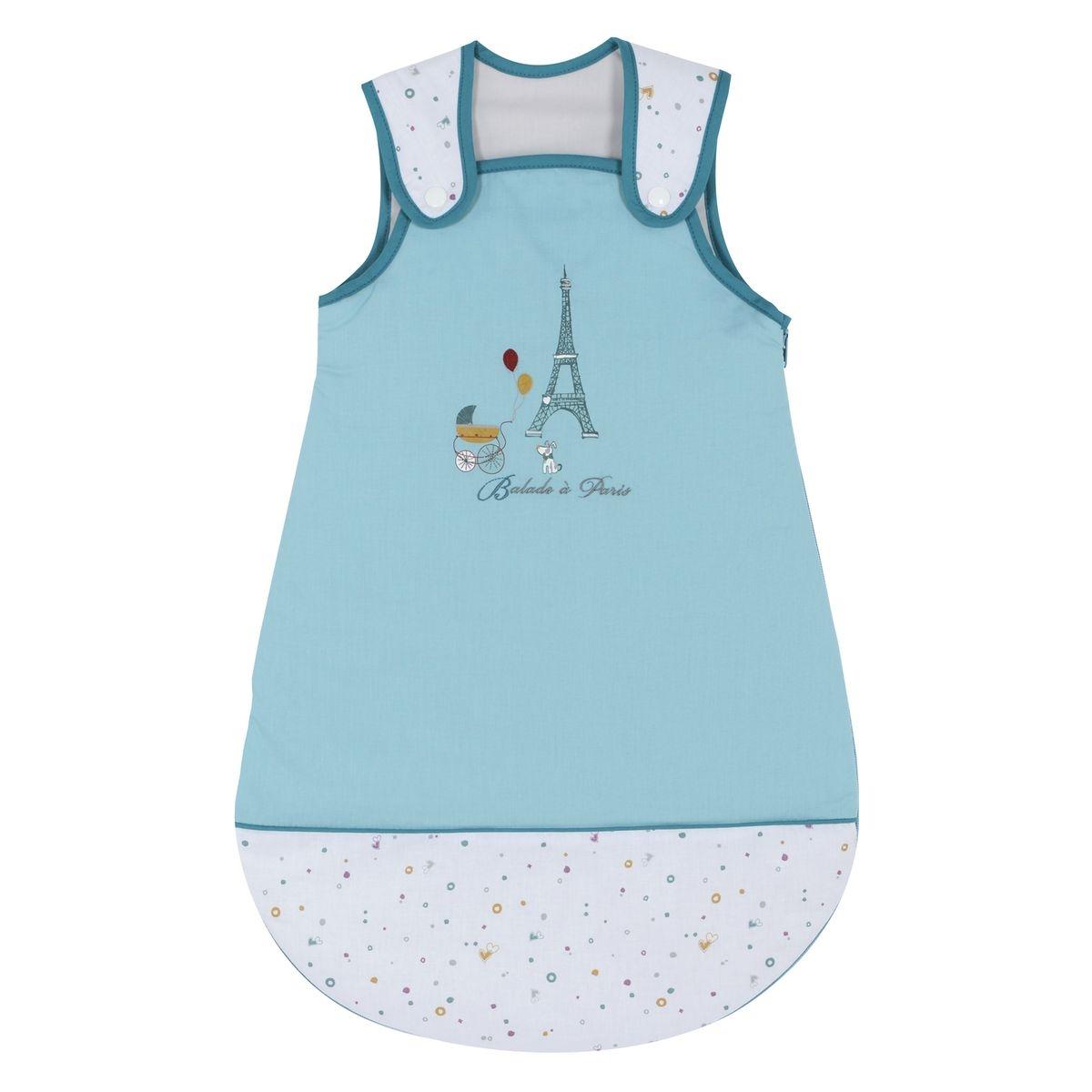 Gigoteuse naissance P'tit Basile Collection 'Little Paris' - 0-6 mois - Bleu