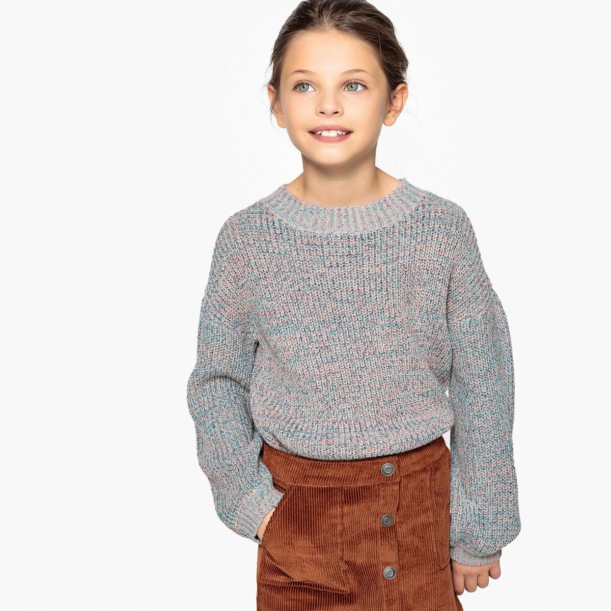Пуловер разноцветный из трикотаже мулине, 3-12 ans шорты с 3 12 ans