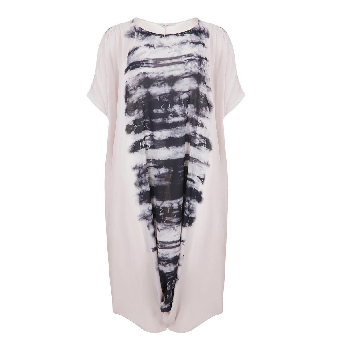 Платье длинное расклешенное с графическим рисунком