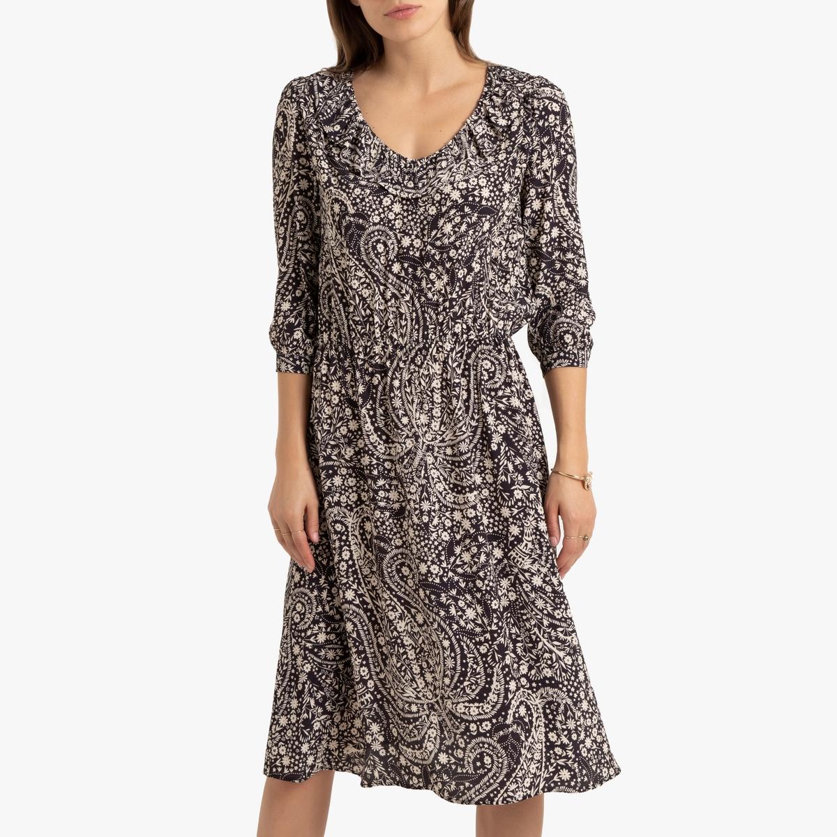 Платье La Redoute С воланами 34 (FR) - 40 (RUS) черный