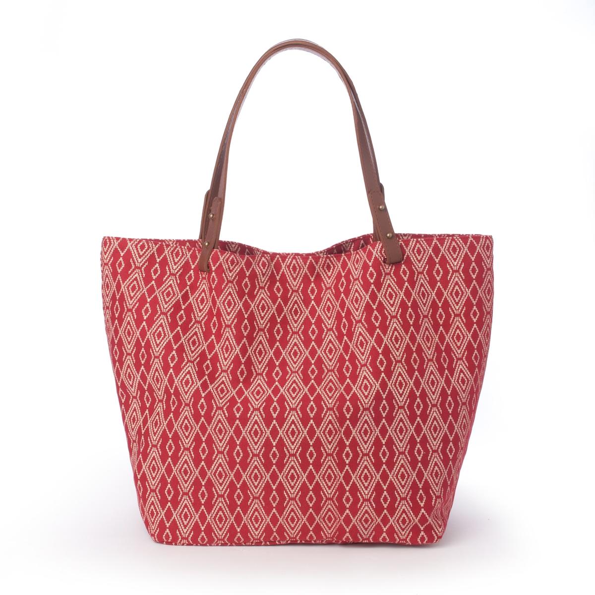 Сумка большая с рисунком, Chloe EthnicПреимущества : сумка с роскошным и элегантным рисунком с ручками с эффектом кожи с патиной. Очень модный богемный стиль и практичный размер на каждый день<br><br>Цвет: красный наб. рисунок<br>Размер: единый размер