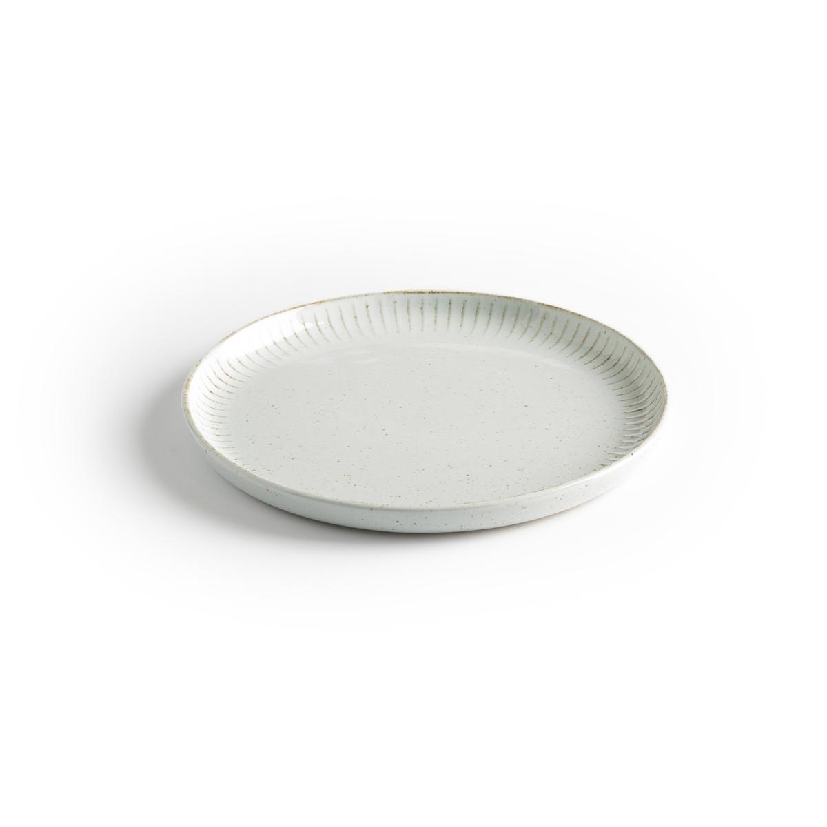 Набор La Redoute Из фарфоровых десертных тарелок Ariane единый размер белый комплект из 4 десертных тарелок sam baron