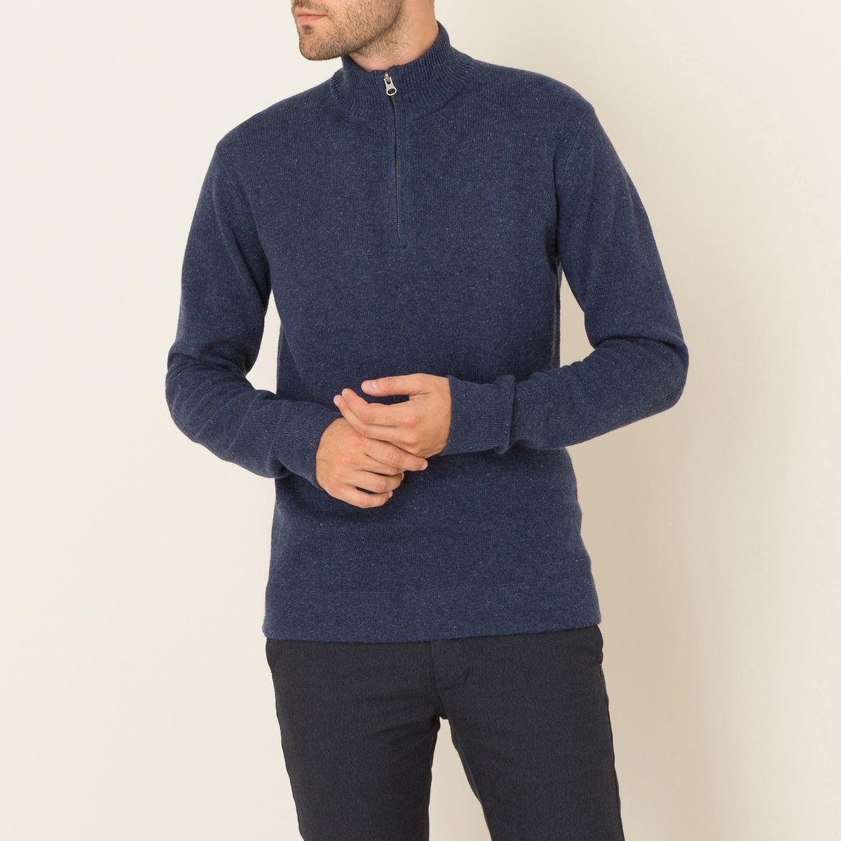 Пуловер с воротником на молнииСостав и описание Материал : 100% мериносовой шерстиМарка : HARTFORD<br><br>Цвет: индиго<br>Размер: L
