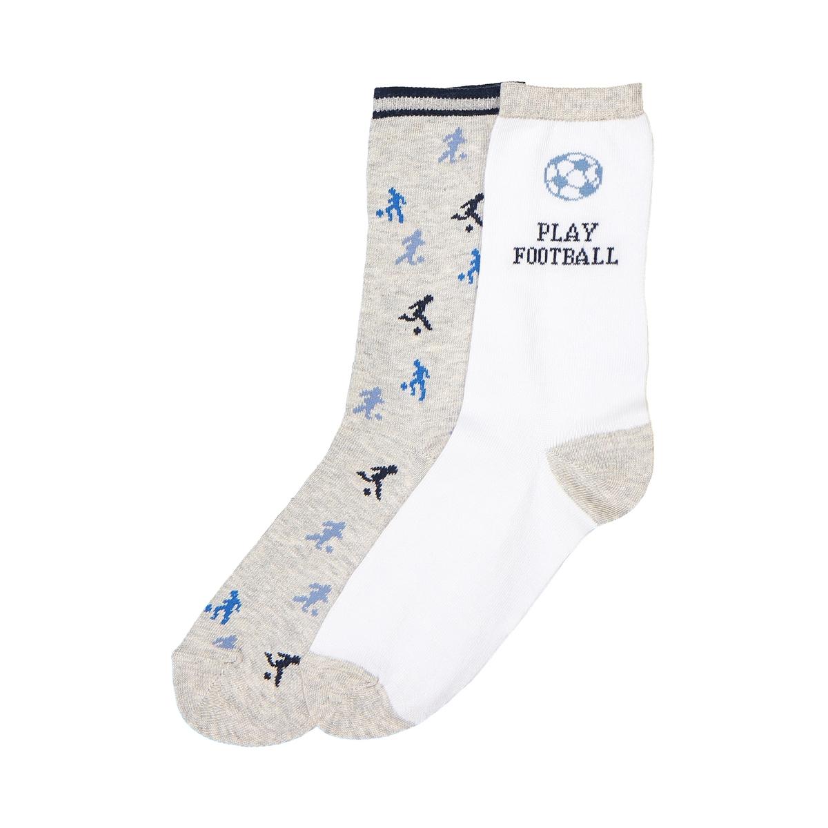 Носки с футбольной тематикой, комплект из 2 пар