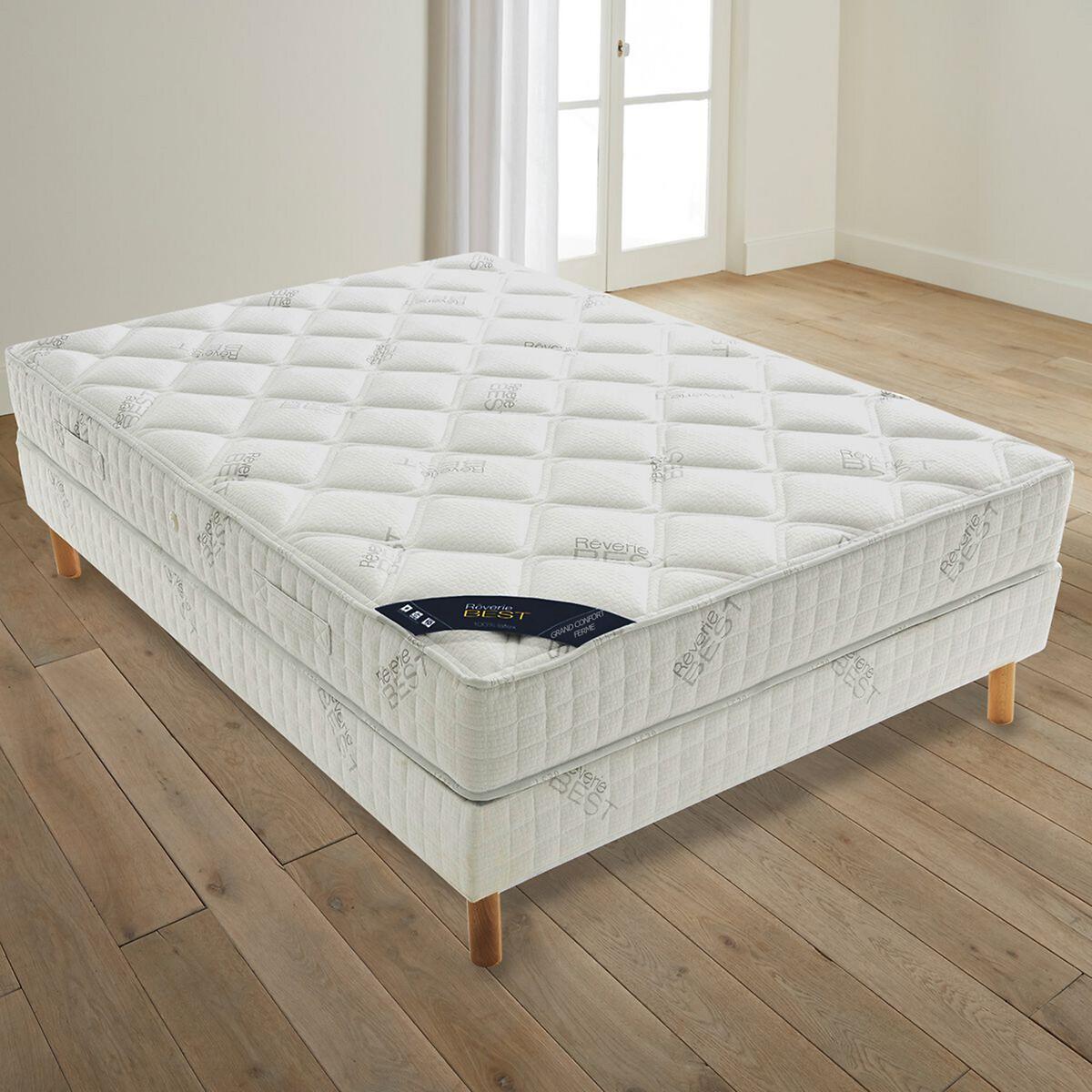 Матрас LaRedoute Best latex упругий повышенного комфорта 90 x 190 см белый кровать laredoute двухъярусная pilha 90 x 190 см белый
