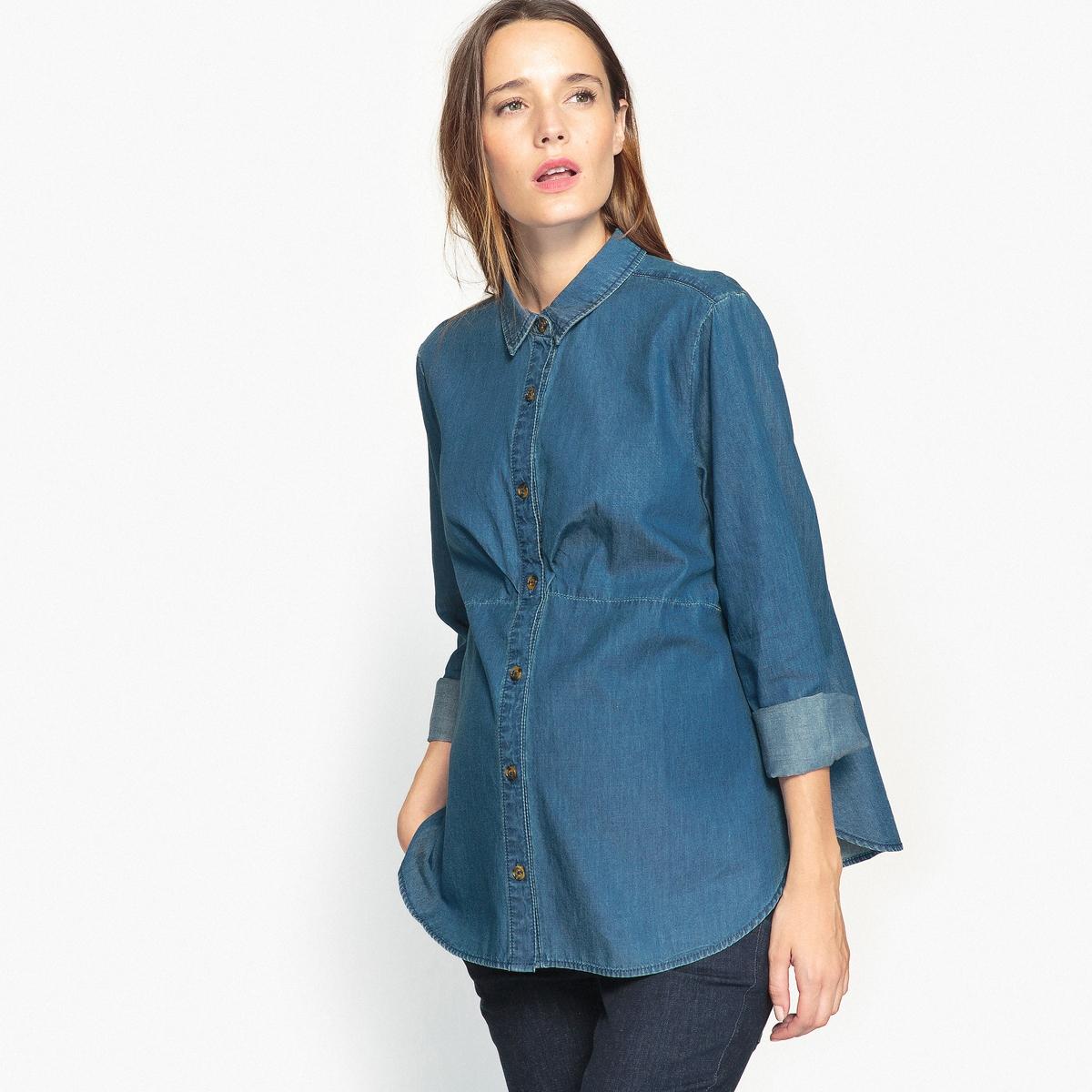 Рубашка из денима для периода беременности от LA REDOUTE MATERNITE