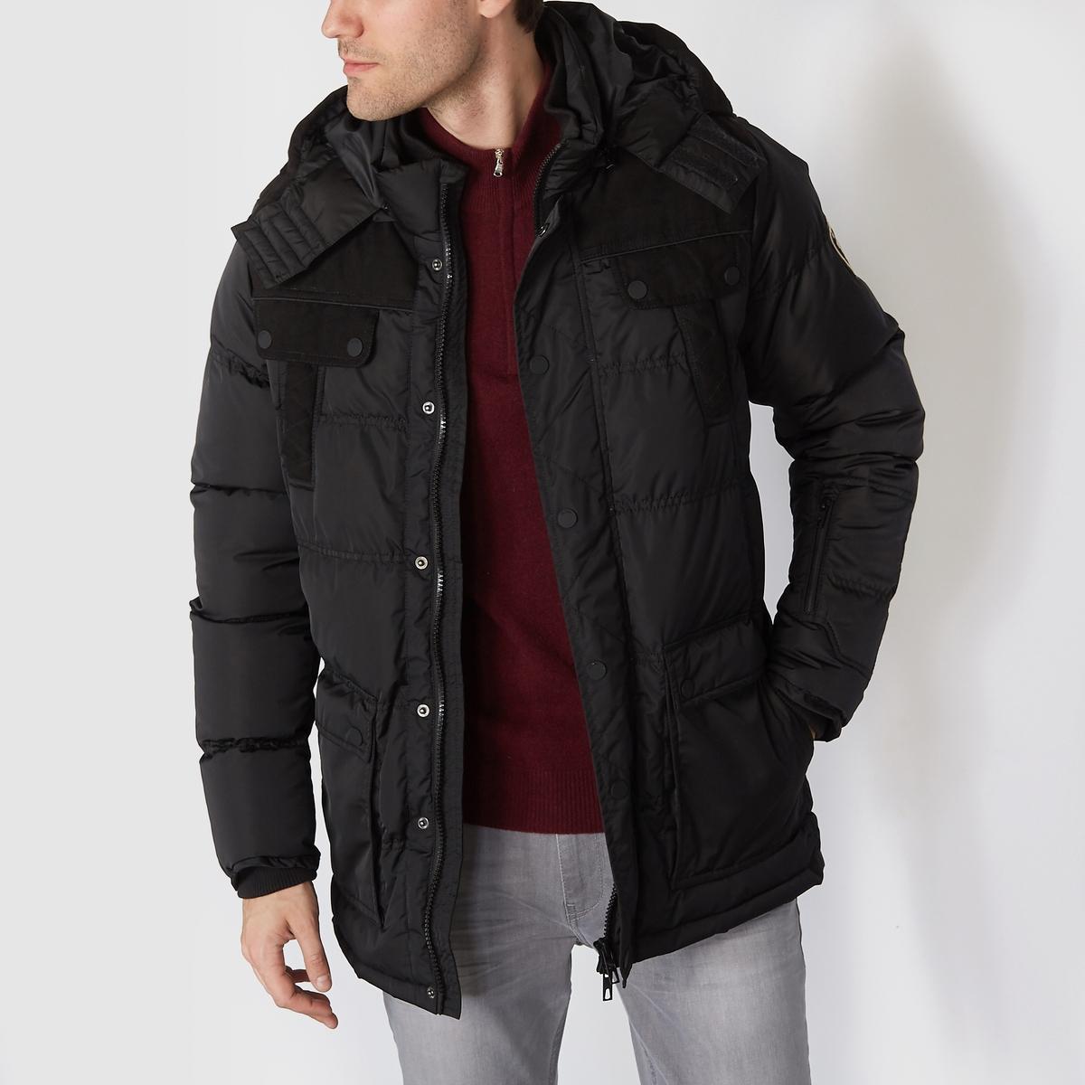 Куртка стеганая с капюшономСостав и описаниеМатериал : 100% полиэстера      Марка : PETROL INDUSTRIES<br><br>Цвет: черный