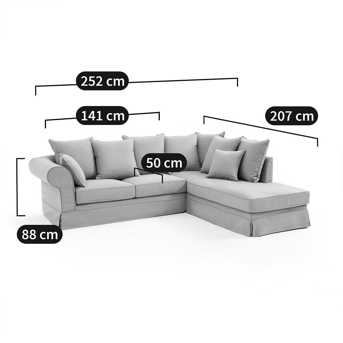 Canapé d'angle Noir Tissu Confort