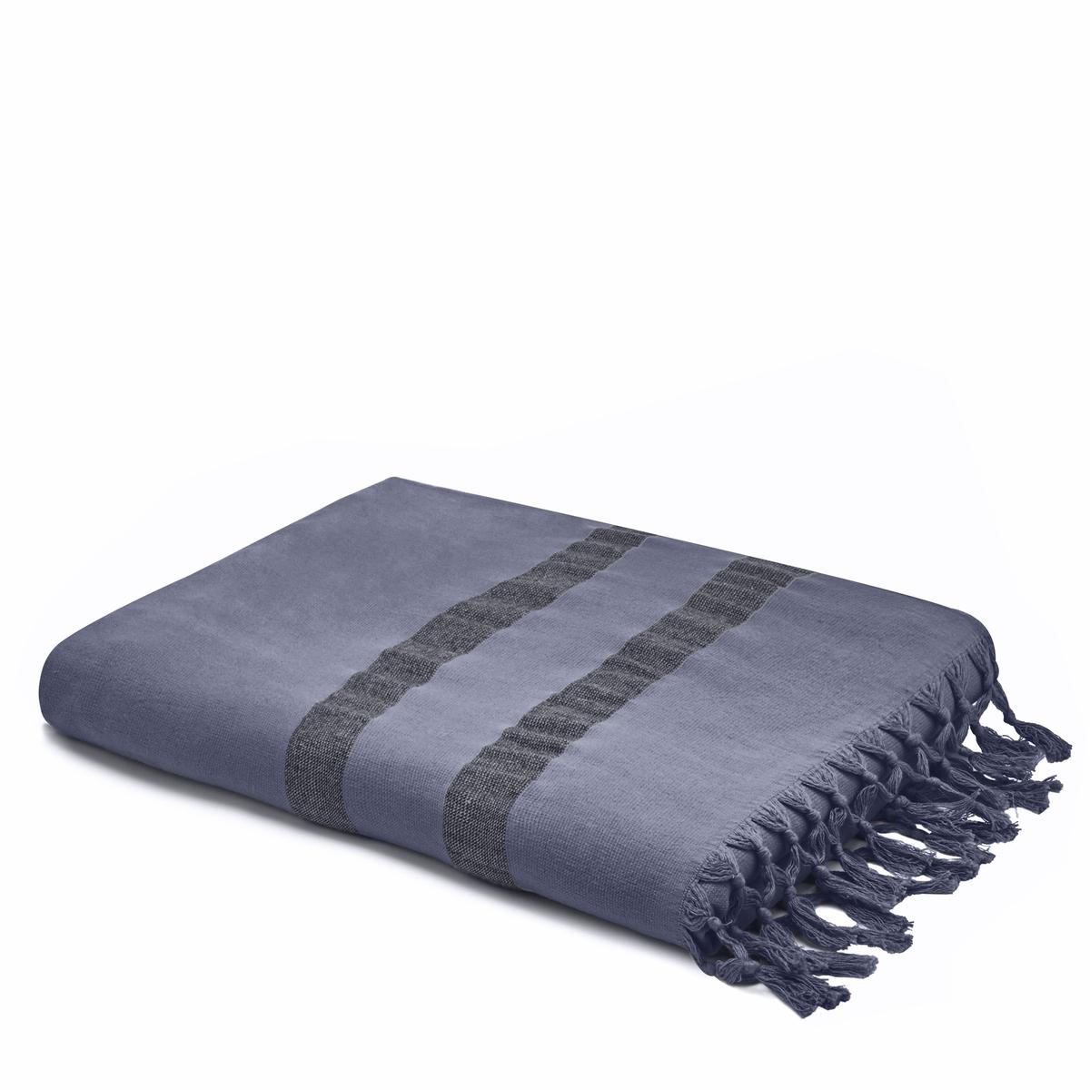 Полотенце La Redoute Махровое ANTALYA 50 x 100 см синий полотенце proffi home классик цвет шоколадный 50 x 100 см