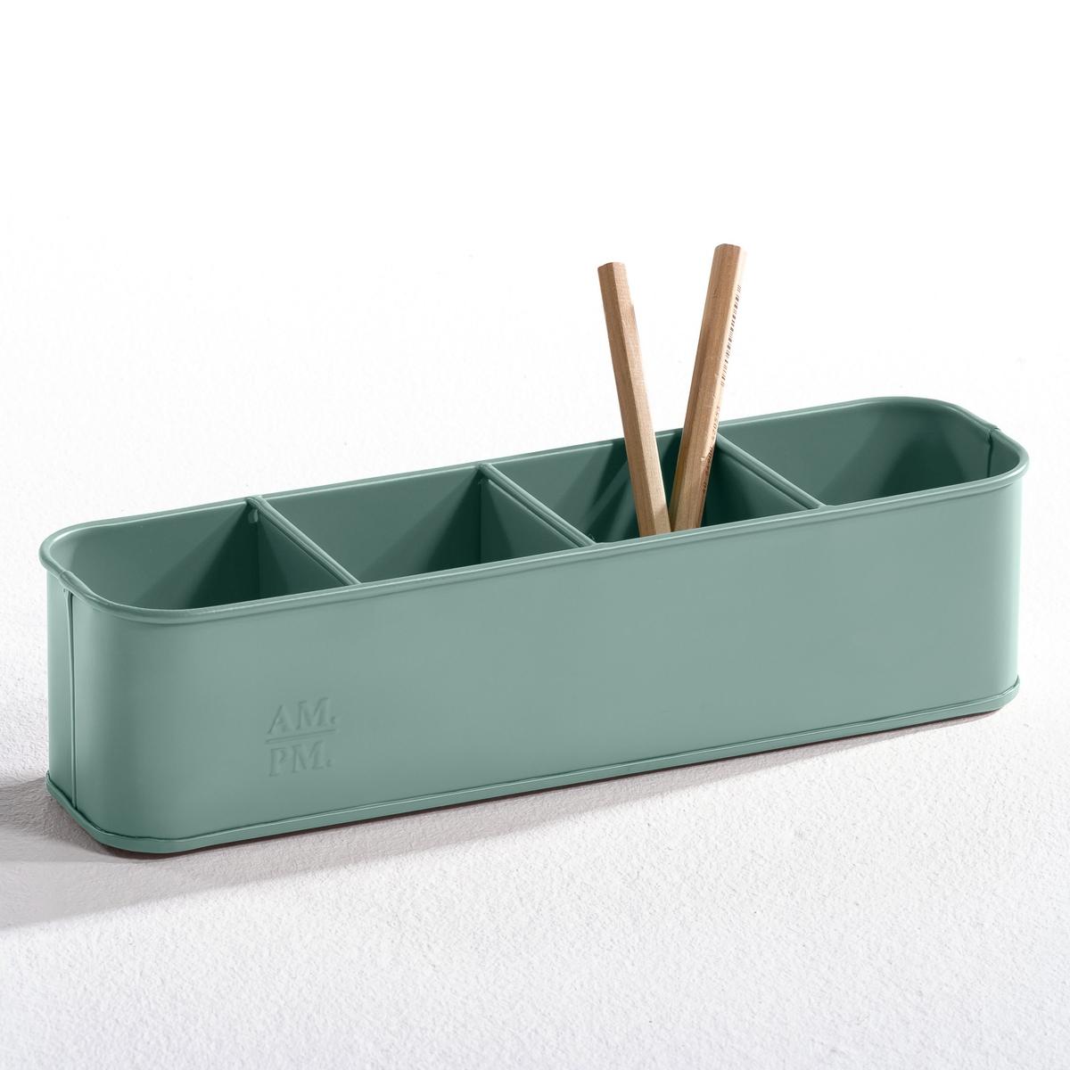 Карандашница ArregloХарактеристики карандашницы  :- 4 отделения .- Можно использовать также как монетницу, кашпо или для хранения столовых приборов   - Размеры карандашницы :  .32 x .8 x .8 см..<br><br>Цвет: белый,серый<br>Размер: единый размер