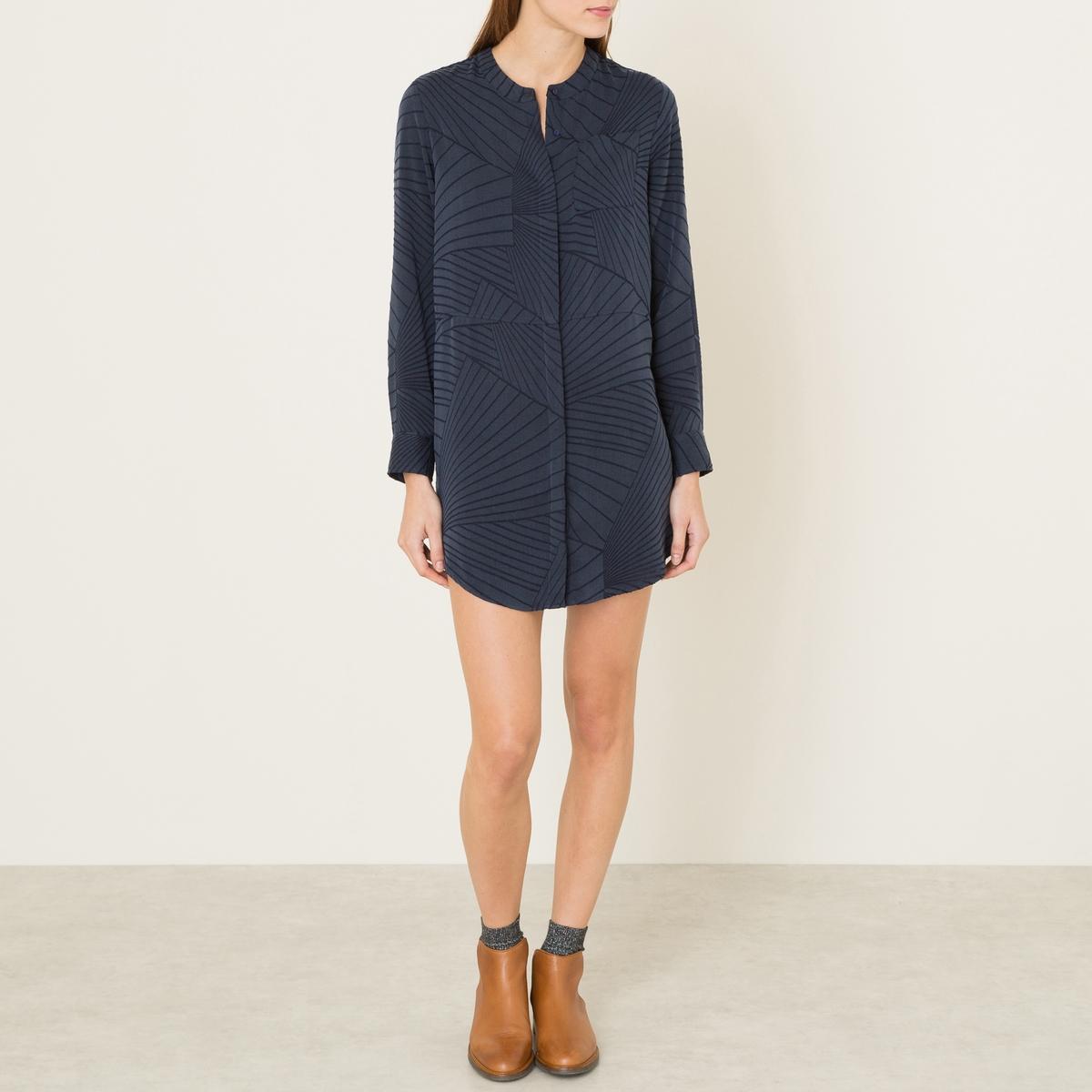 Платье FARAHСостав и описание :Материал : 63% ткани купро, 37% полиэстераМарка : BERENICE<br><br>Цвет: темно-синий
