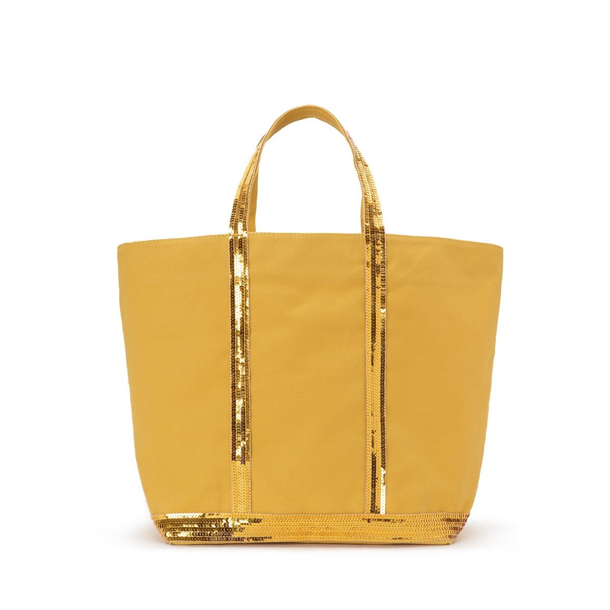 Сумка-шоппер La Redoute Из ткани с блестками единый размер желтый