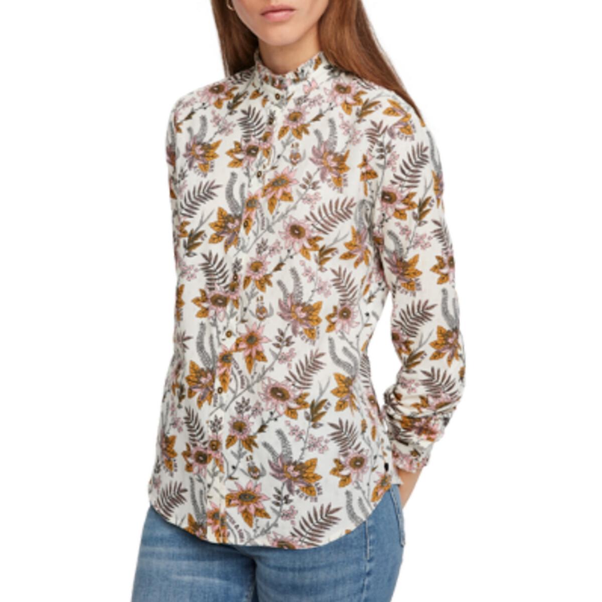 Блузка La Redoute С рисунком и длинными рукавами L разноцветный цена 2017