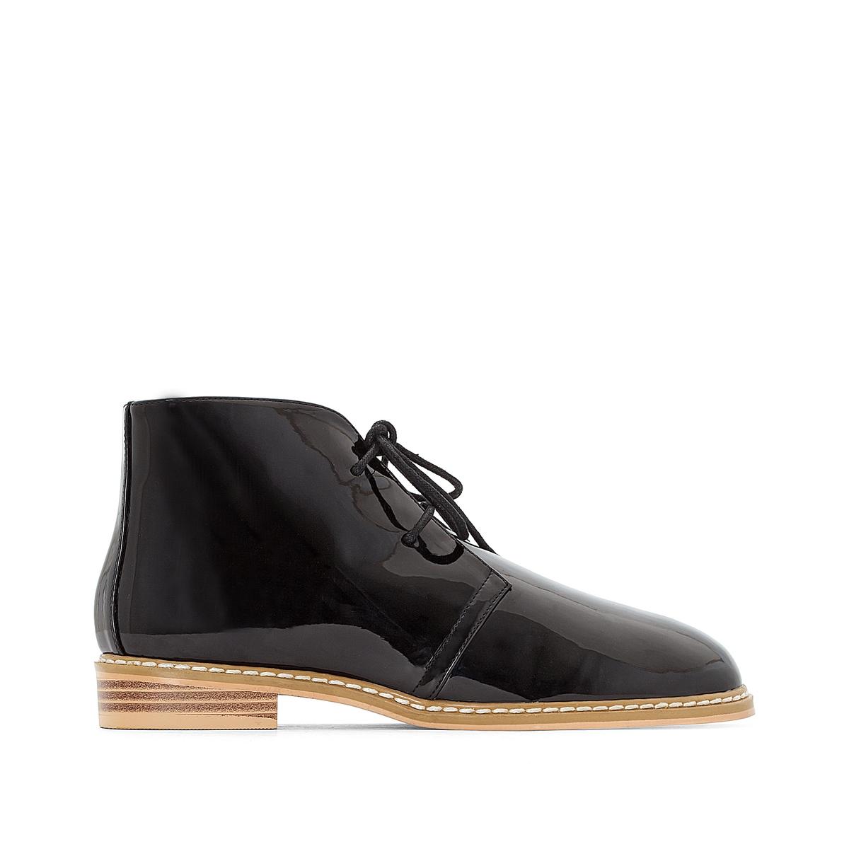 Ботинки-дезерты лакированные