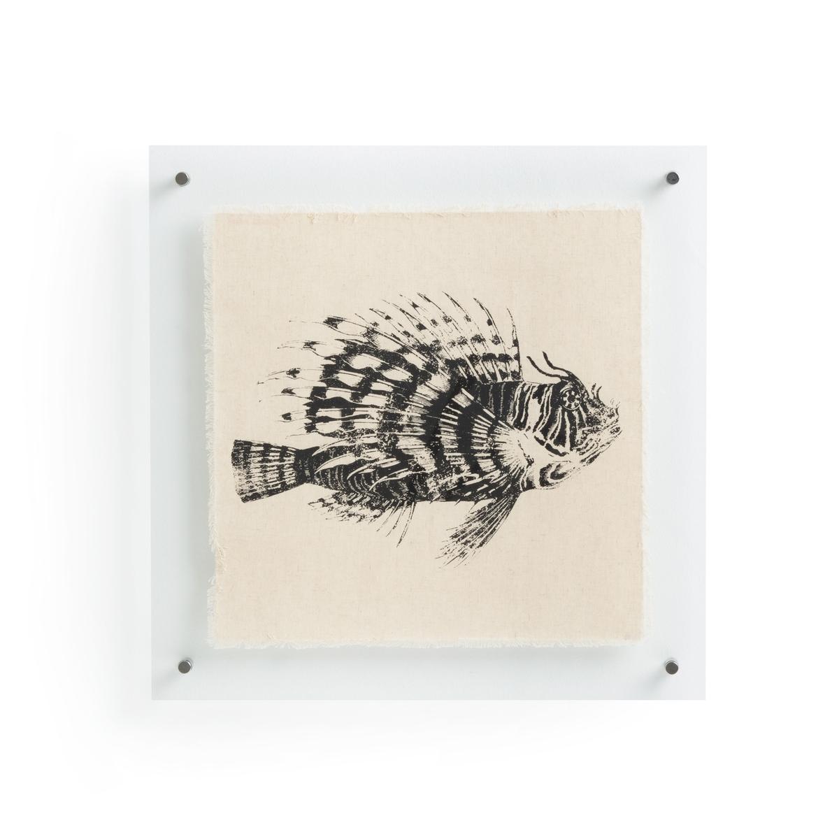 Плакат La Redoute Рыба из льна Lanzi единый размер черный комплект из полотенце для la redoute рук из хлопка и льна nipaly 50 x 100 см белый