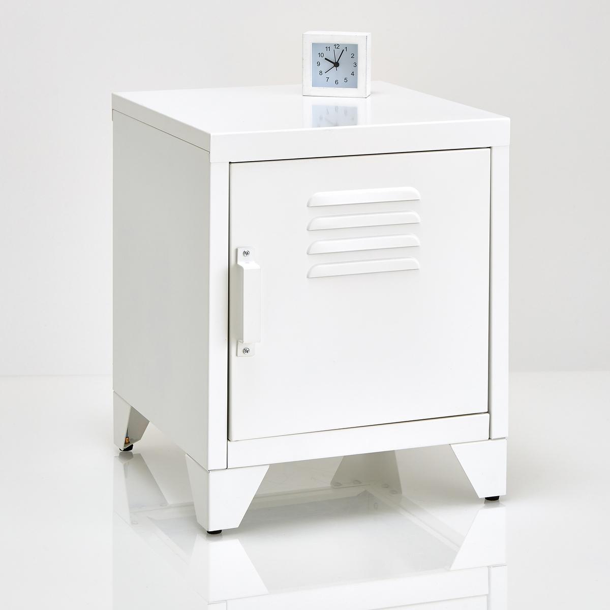 Тумба металлическая  HibaМеталлическая тумба с 1 дверцей  Hiba. Тумба Hiba - вспомогательная мебель, представленная в разной цветовой гамме, в индустриальном стиле . Описание металлической тумбы Hiba :1 дверца.1 съемная полка внутри .Характеристики :Металл с эпоксидным покрытием.Всю коллекцию Hiba вы можете найти на сайте laredoute.ru.Размеры :Общие размеры :Ширина : 40 смВысота : 50 см.Глубина : 40 смНастенная полка : 35,6 x 39,7 смНожки : Выс 8,5 смРазмеры и вес упаковки :1 упаковка49 x 23 x 46,5 см9,7 кг Доставка:Поставляется в разобранном виде.  !Возможна доставка до двери при предварительной договоренности. Внимание!  Убедитесь, что товар возможно доставить, учитывая его габариты  (проходит в дверные проемы, лифты, по лестницам).<br><br>Цвет: антрацит,белый<br>Размер: единый размер