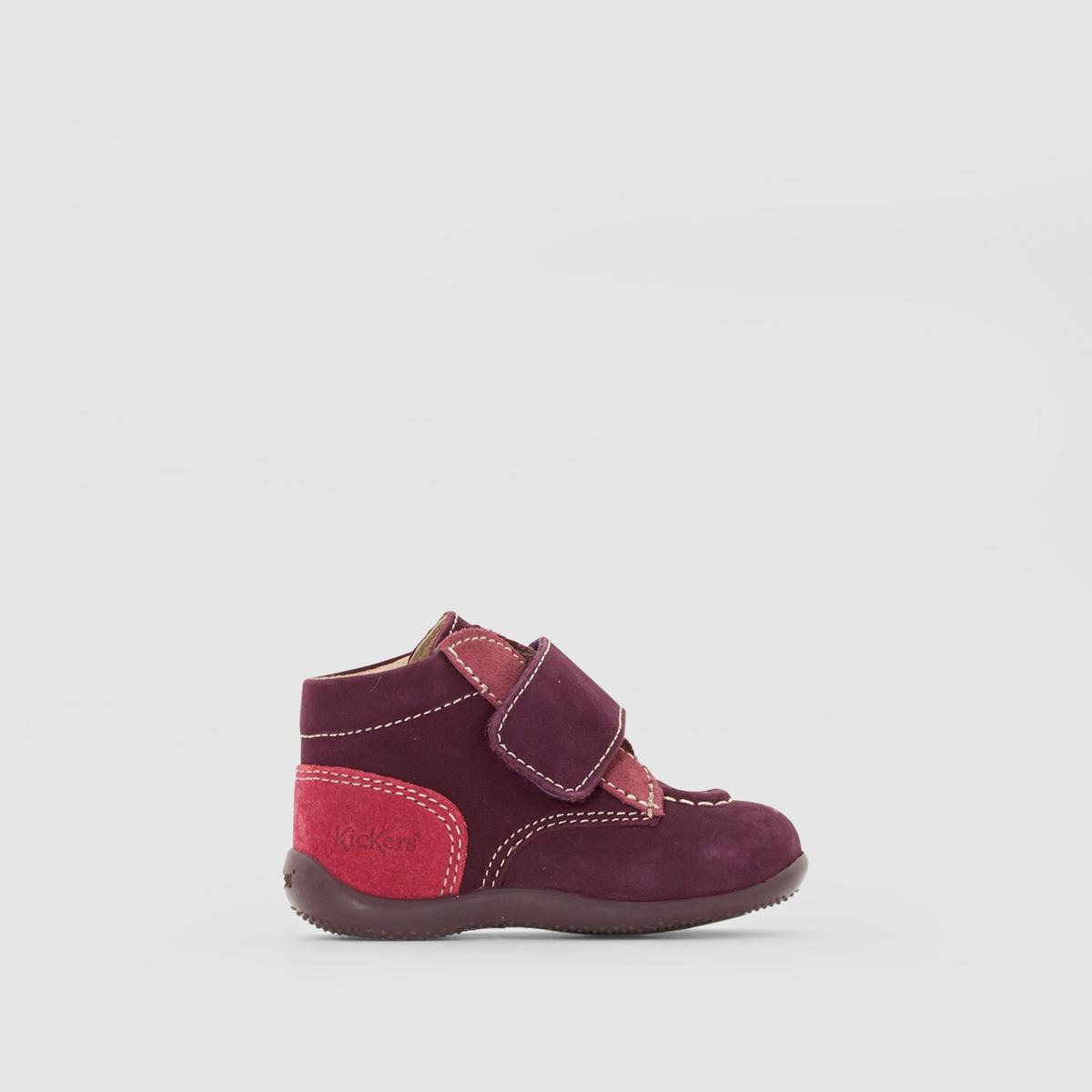 Ботинки с застежкой на планку-велкро BONOПодкладка : Микрофибра   Стелька : Неотделанная кожа   Подошва : Каучук   Высота каблука : 5 смЗастежка : На планку-велкро<br><br>Цвет: фиолетовый/ фуксия<br>Размер: 22