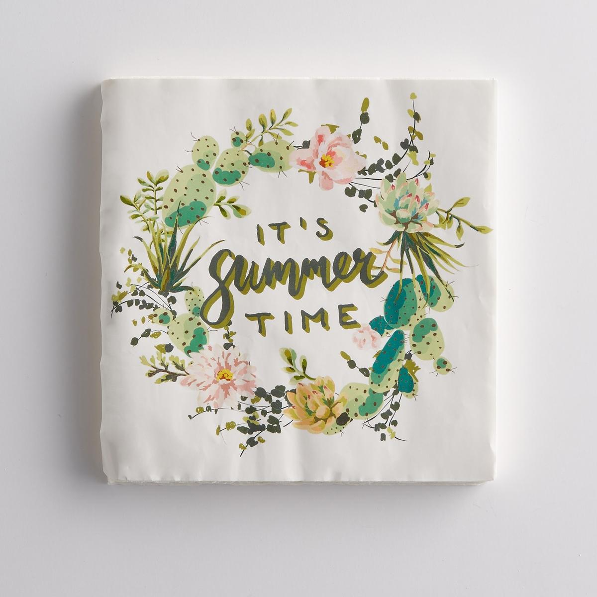 Комплект из 20 бумажных салфеток La Redoute La Redoute единый размер каштановый скатерти и салфетки a la gobelin салфетки пасхальные цыплята 35х35 см