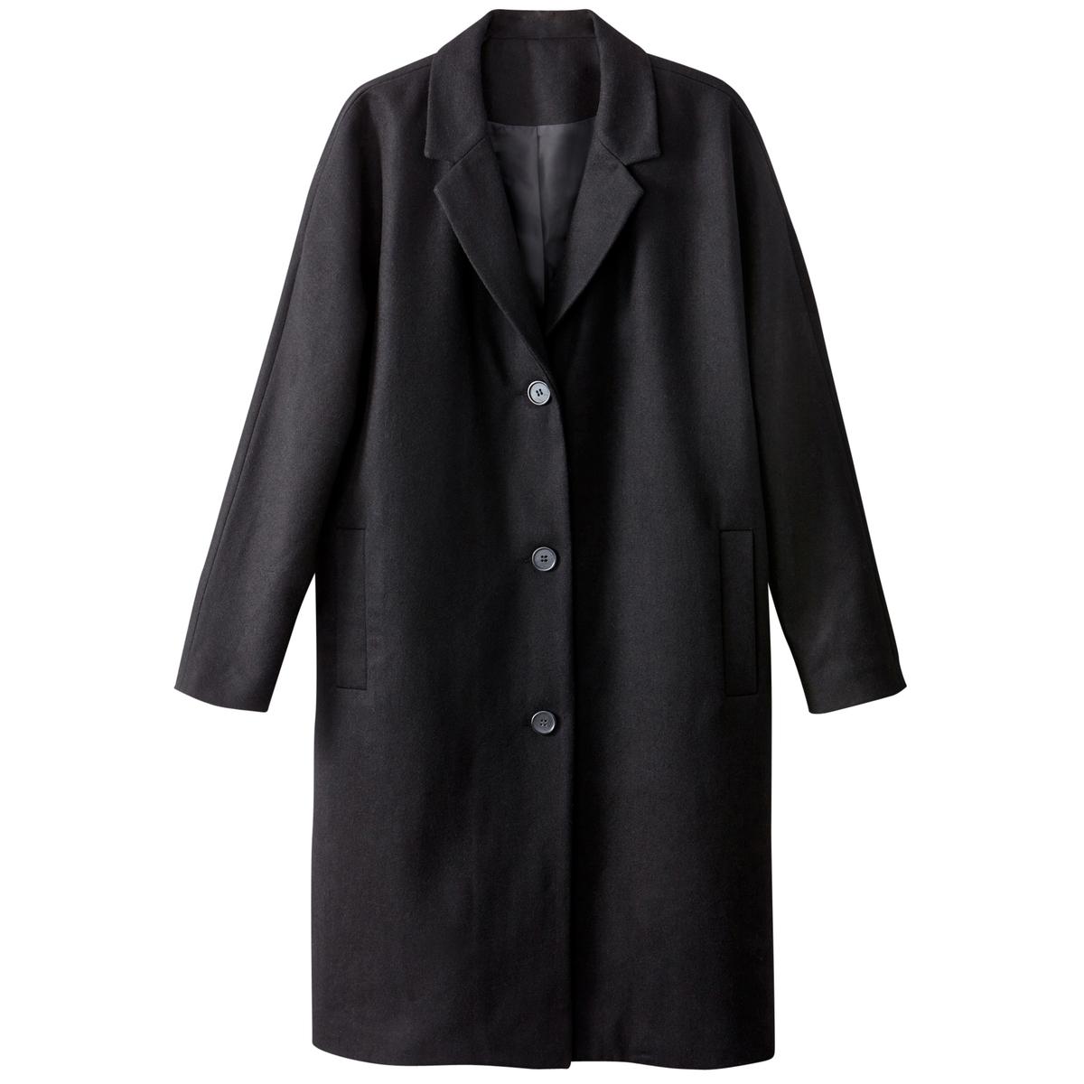 Пальто оверсайз, 40% шерстиЭтой зимой, при наступлении холодов, отличный выбор - это незаменимое удлиненное пальто. Его объемная форма подойдет для любого телосложения .Детали •  Длина : удлиненная модель •   V-образный вырез • Застежка на пуговицыСостав и уход •  40% шерсти, 7% акрила, 3% других волокон, 5% полиамида • Не стирать •  Деликатная чистка/без отбеливателей •  Не использовать барабанную сушку   •  Не гладить •  Длина : 104 см<br><br>Цвет: черный<br>Размер: 46 (FR) - 52 (RUS).44 (FR) - 50 (RUS).42 (FR) - 48 (RUS).38 (FR) - 44 (RUS).52 (FR) - 58 (RUS).50 (FR) - 56 (RUS).40 (FR) - 46 (RUS)