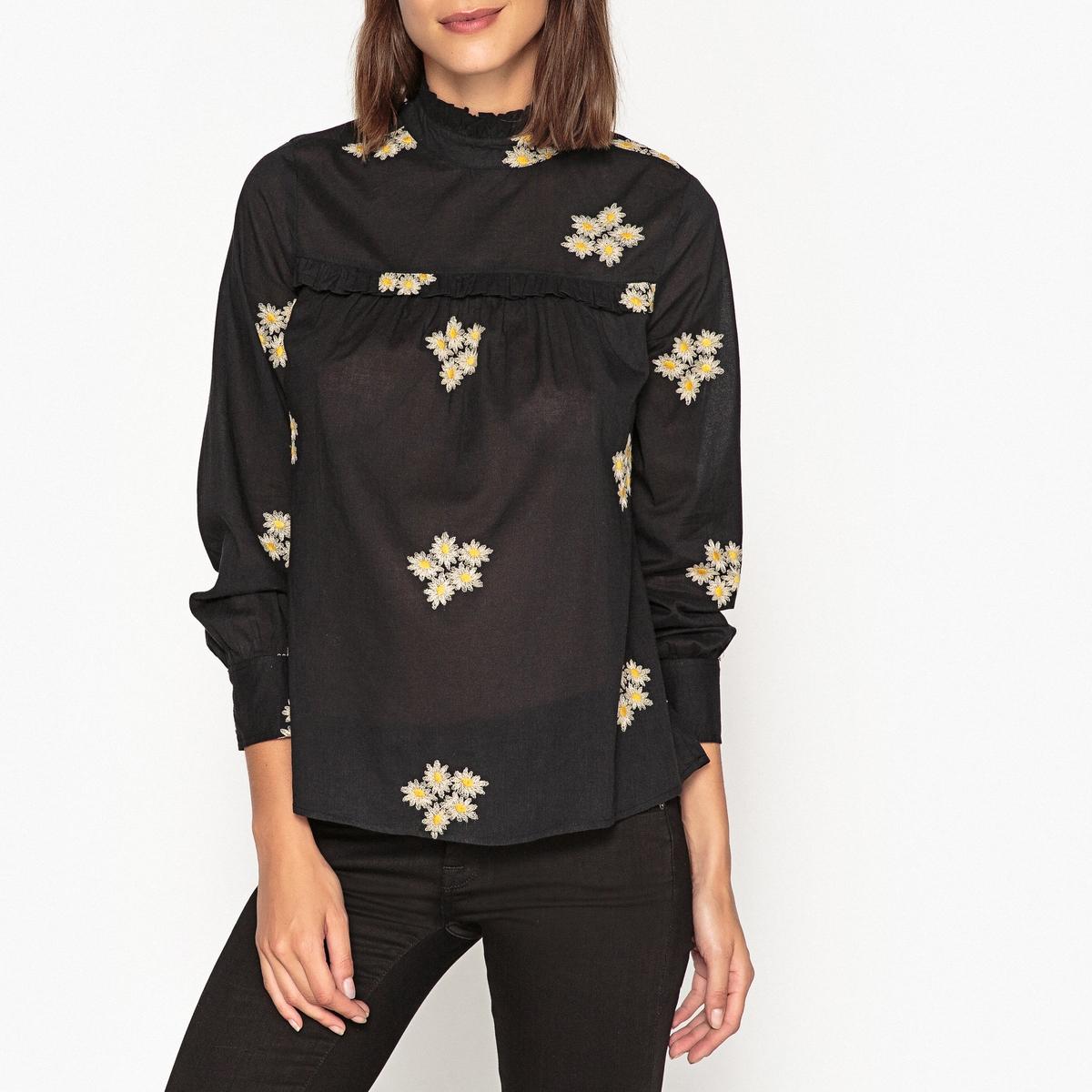 Блузка с воротником-стойкой LUNA MARGUERITES